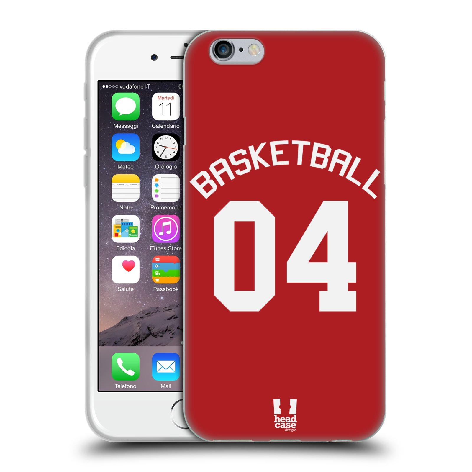 HEAD CASE silikonový obal na mobil Apple Iphone 6/6S Sportovní dres Basketbal červený