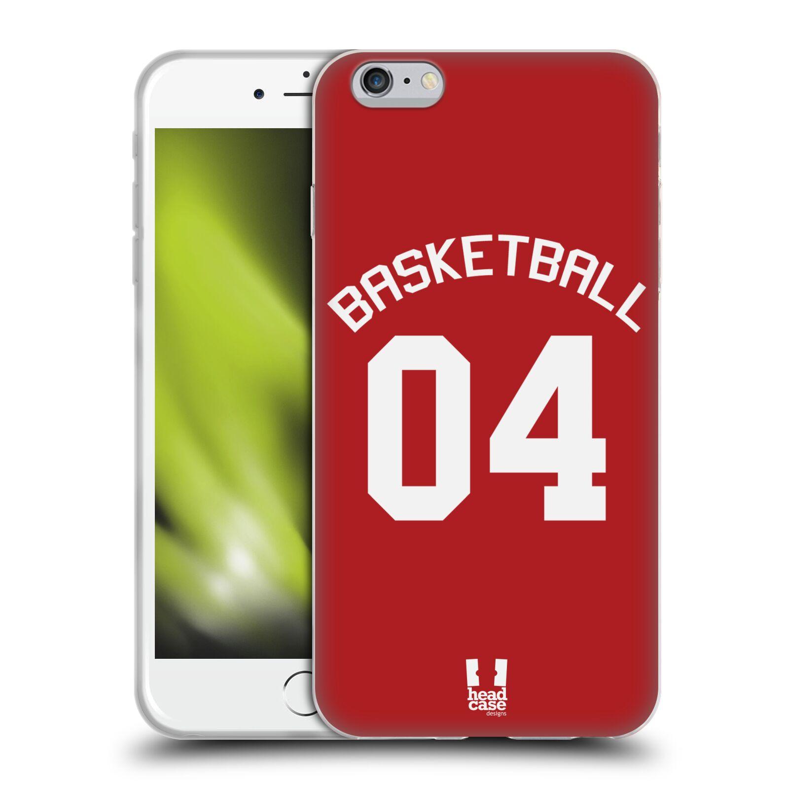 HEAD CASE silikonový obal na mobil Apple Iphone 6/6S PLUS Sportovní dres Basketbal červený
