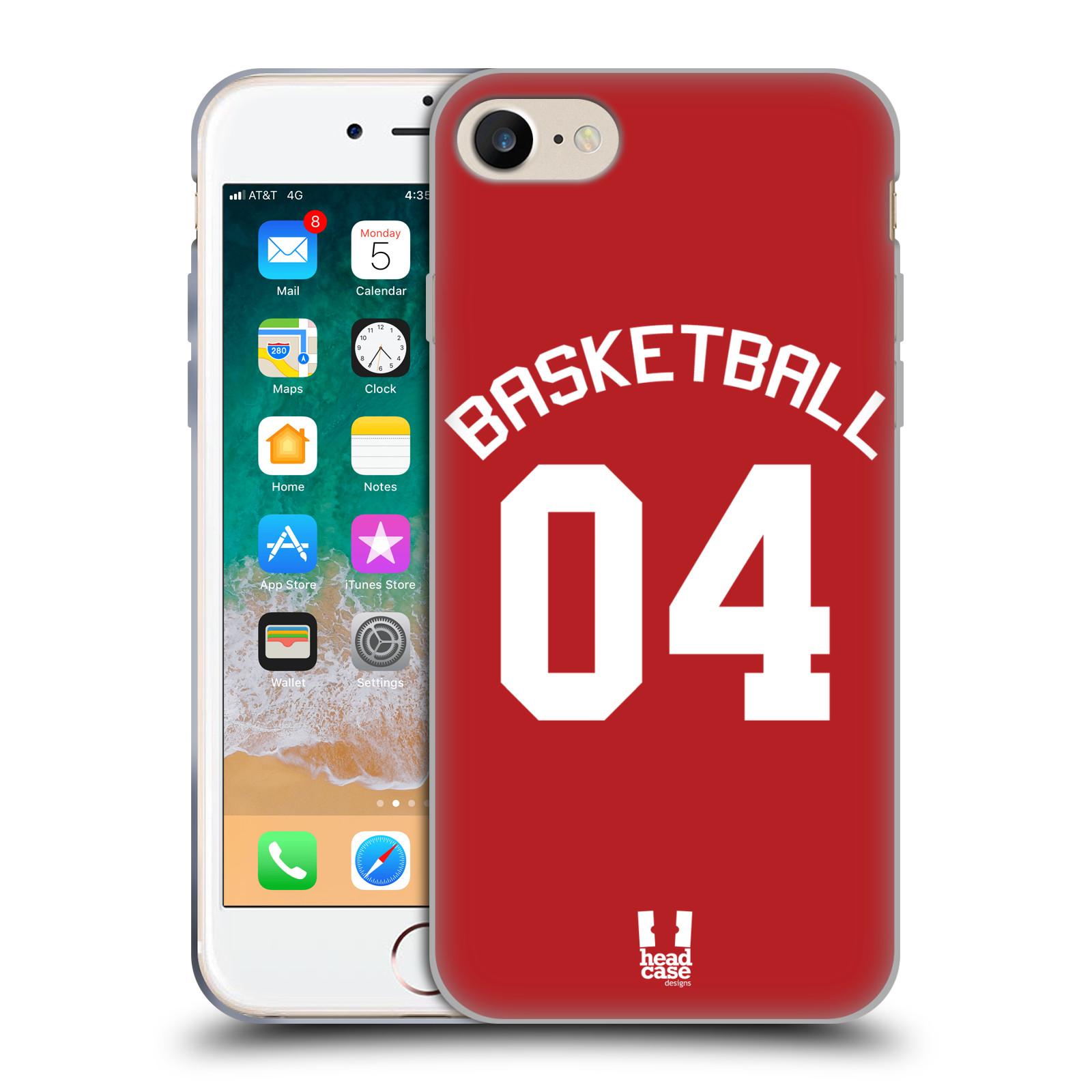 HEAD CASE silikonový obal na mobil Apple Iphone 7 Sportovní dres Basketbal červený