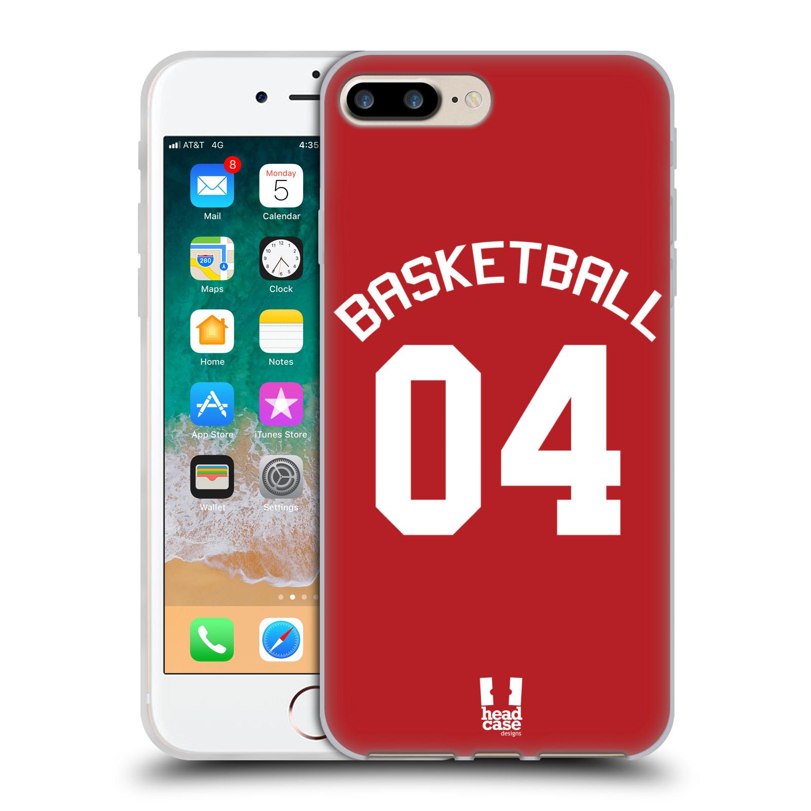 HEAD CASE silikonový obal na mobil Apple Iphone 7 PLUS Sportovní dres Basketbal červený