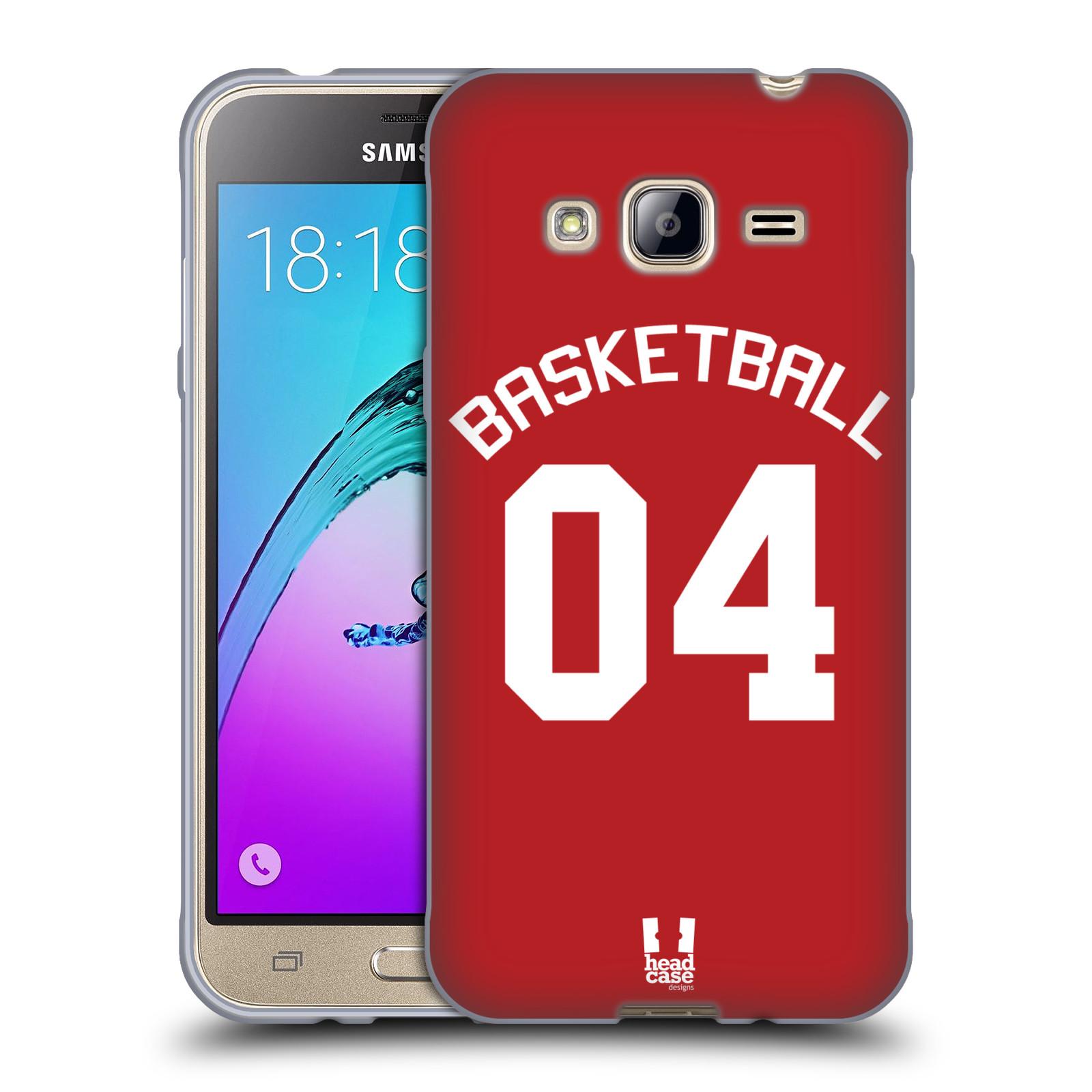 HEAD CASE silikonový obal na mobil Samsung Galaxy J3, J3 2016 Sportovní dres Basketbal červený