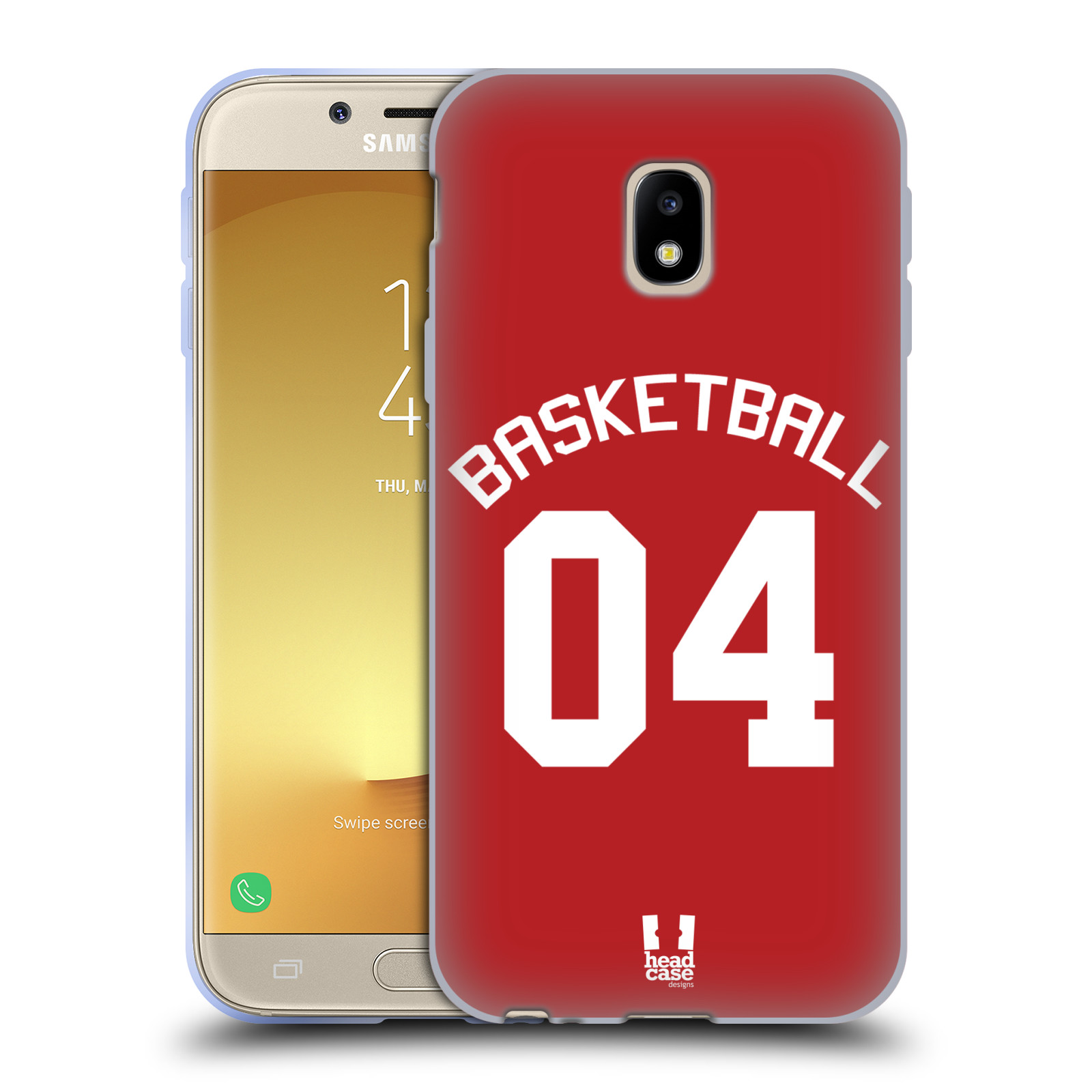 HEAD CASE silikonový obal na mobil Samsung Galaxy J3 2017 (J330, J330F) Sportovní dres Basketbal červený