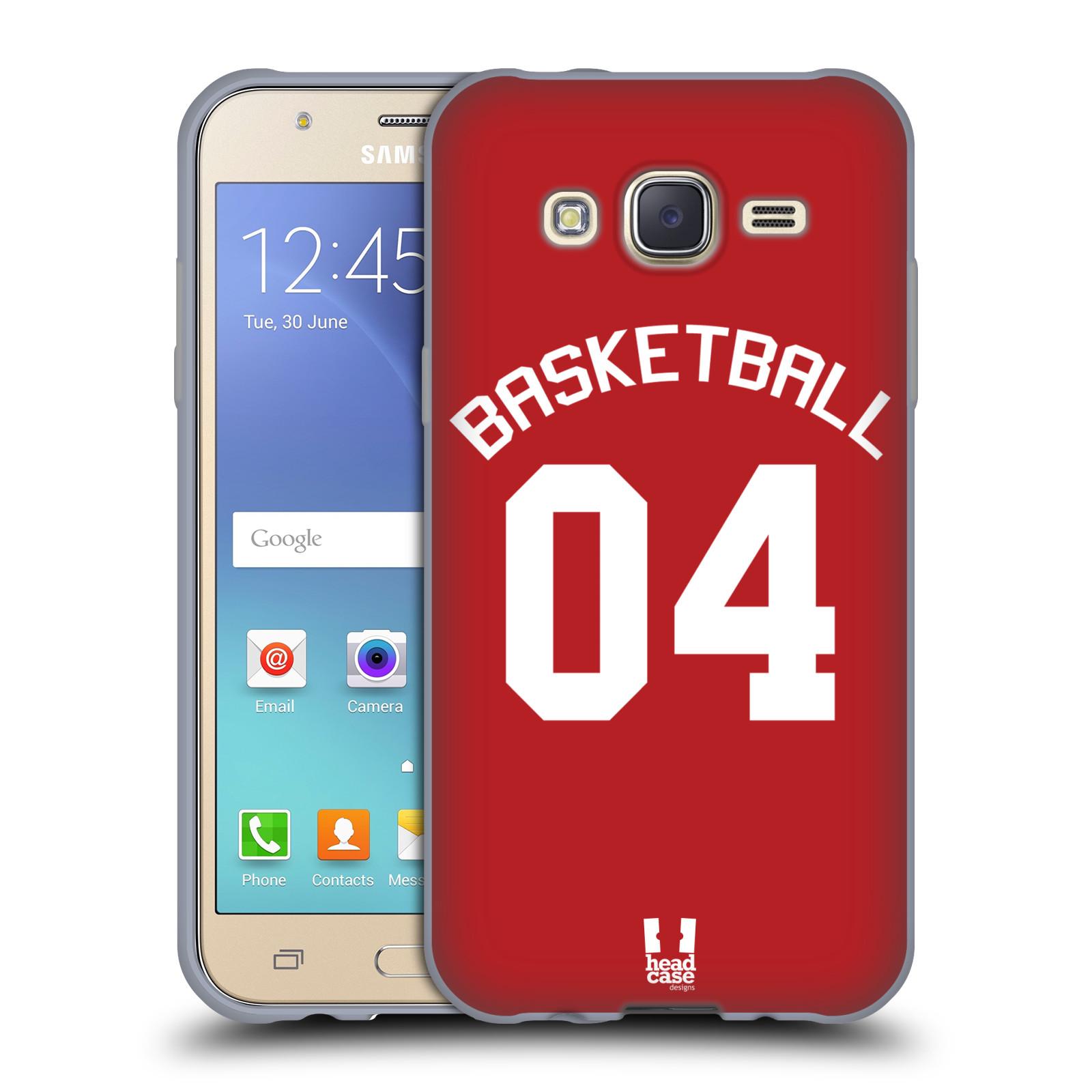HEAD CASE silikonový obal na mobil Samsung Galaxy J5 2015 (J500) Sportovní dres Basketbal červený