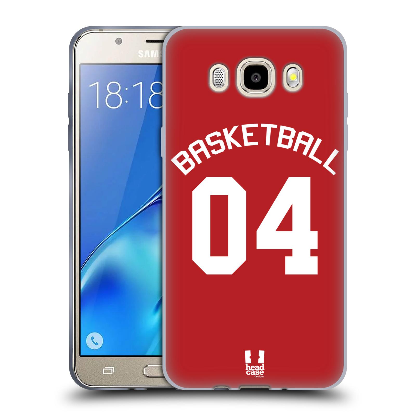 HEAD CASE silikonový obal na mobil Samsung Galaxy J5 2016 (J510) Sportovní dres Basketbal červený