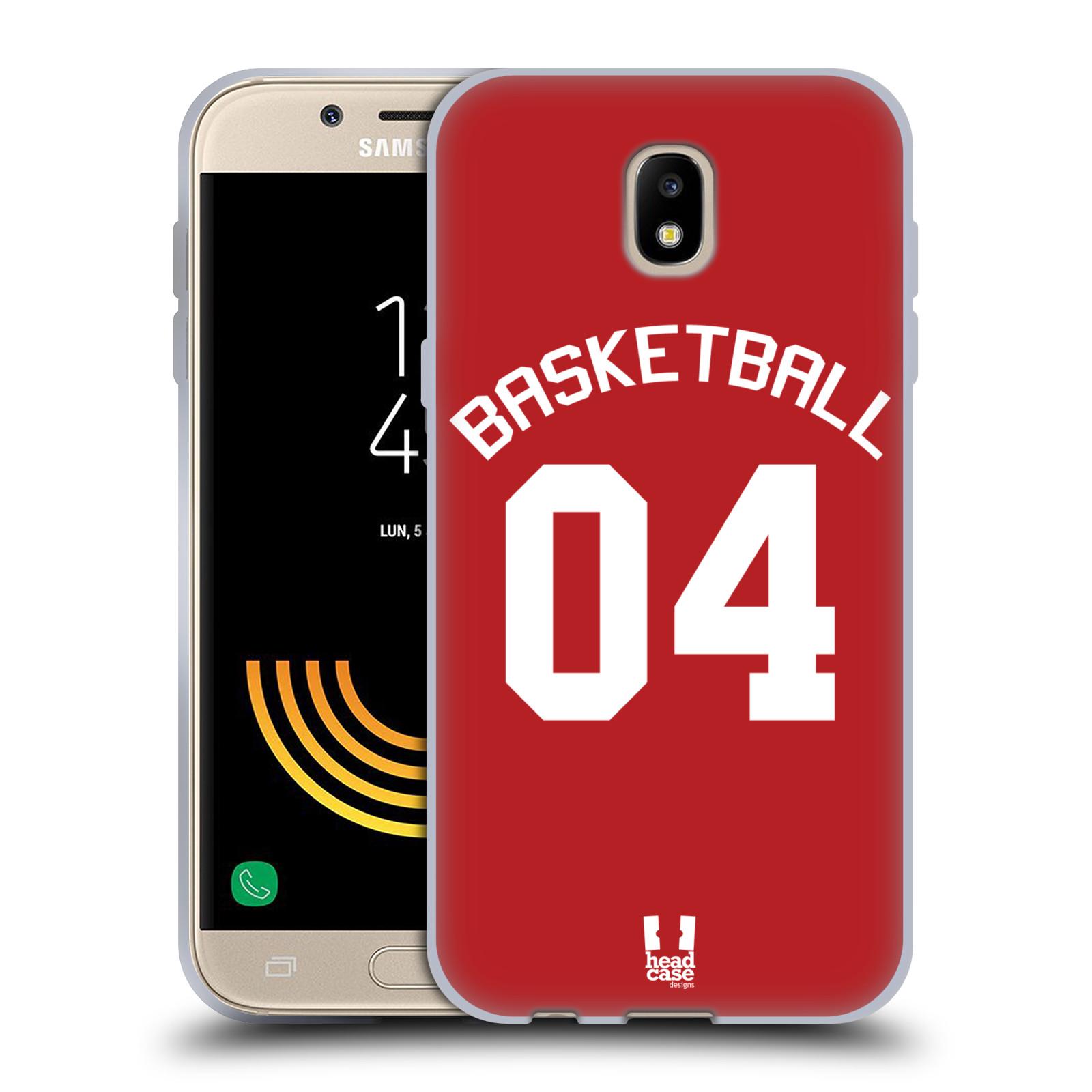 HEAD CASE silikonový obal na mobil Samsung Galaxy J5 2017 Sportovní dres Basketbal červený
