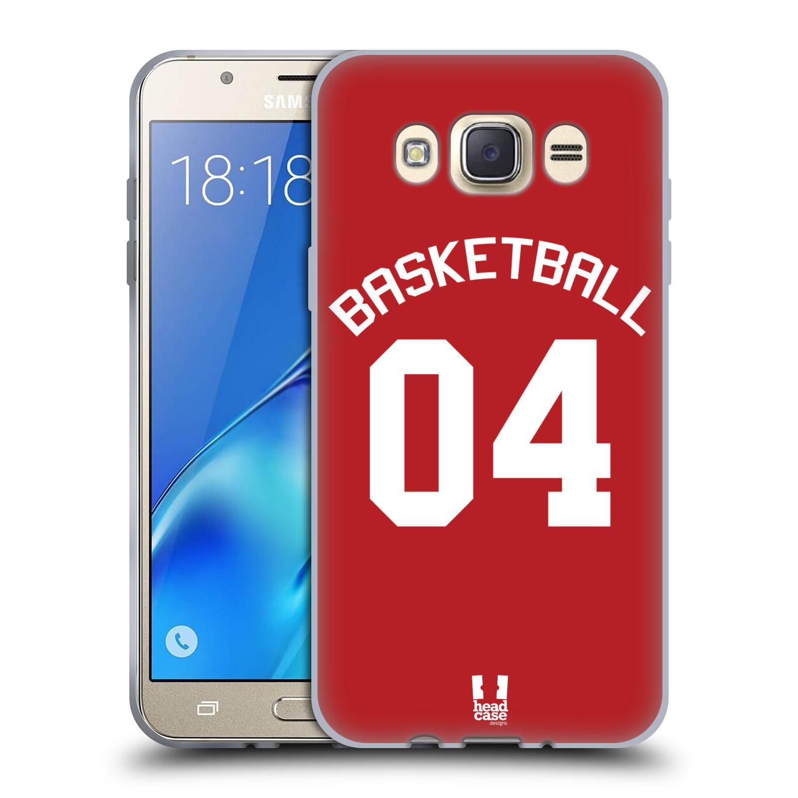 HEAD CASE silikonový obal na mobil Samsung Galaxy J7 2016 Sportovní dres Basketbal červený
