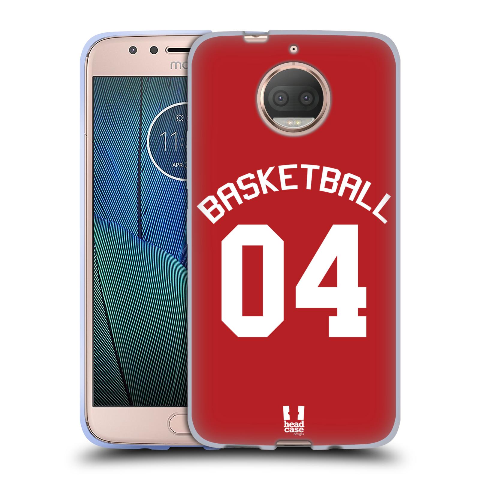 HEAD CASE silikonový obal na mobil Lenovo Moto G5s PLUS Sportovní dres Basketbal červený