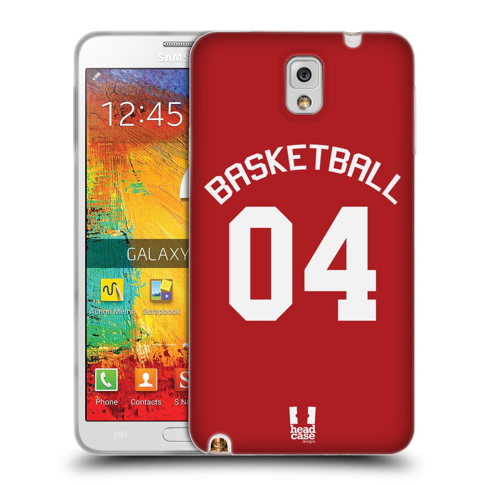 HEAD CASE silikonový obal na mobil Samsung Galaxy Note 3 Sportovní dres Basketbal červený