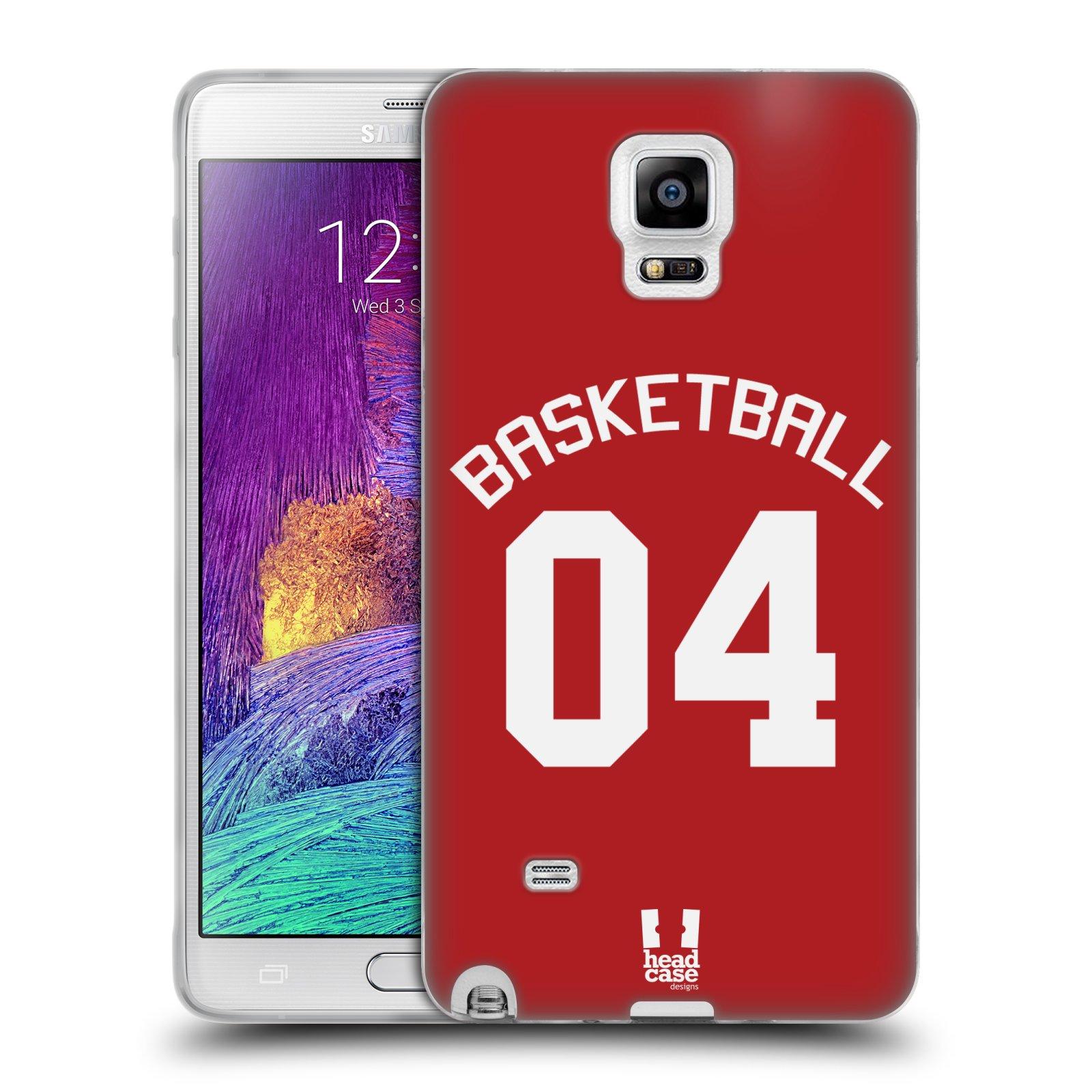 HEAD CASE silikonový obal na mobil Samsung Galaxy Note 4 Sportovní dres Basketbal červený