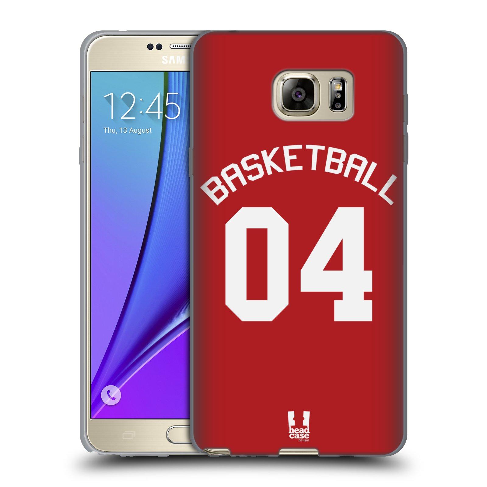 HEAD CASE silikonový obal na mobil Samsung Galaxy Note 5 Sportovní dres Basketbal červený