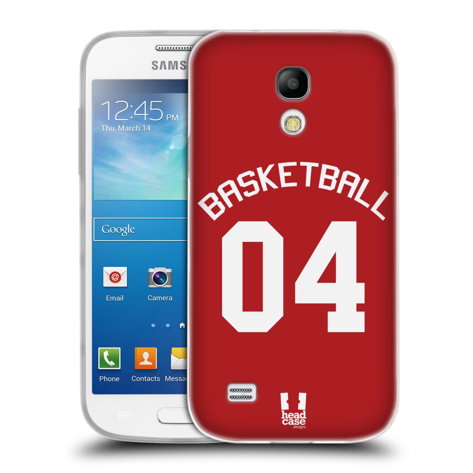 HEAD CASE silikonový obal na mobil Samsung Galaxy S4 MINI Sportovní dres Basketbal červený