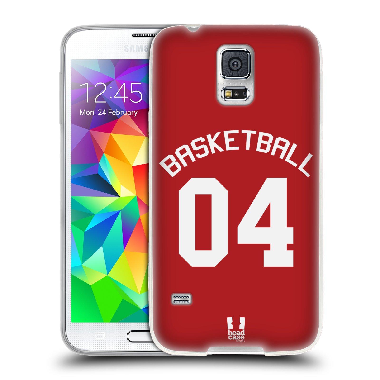 HEAD CASE silikonový obal na mobil Samsung Galaxy S5 Sportovní dres Basketbal červený