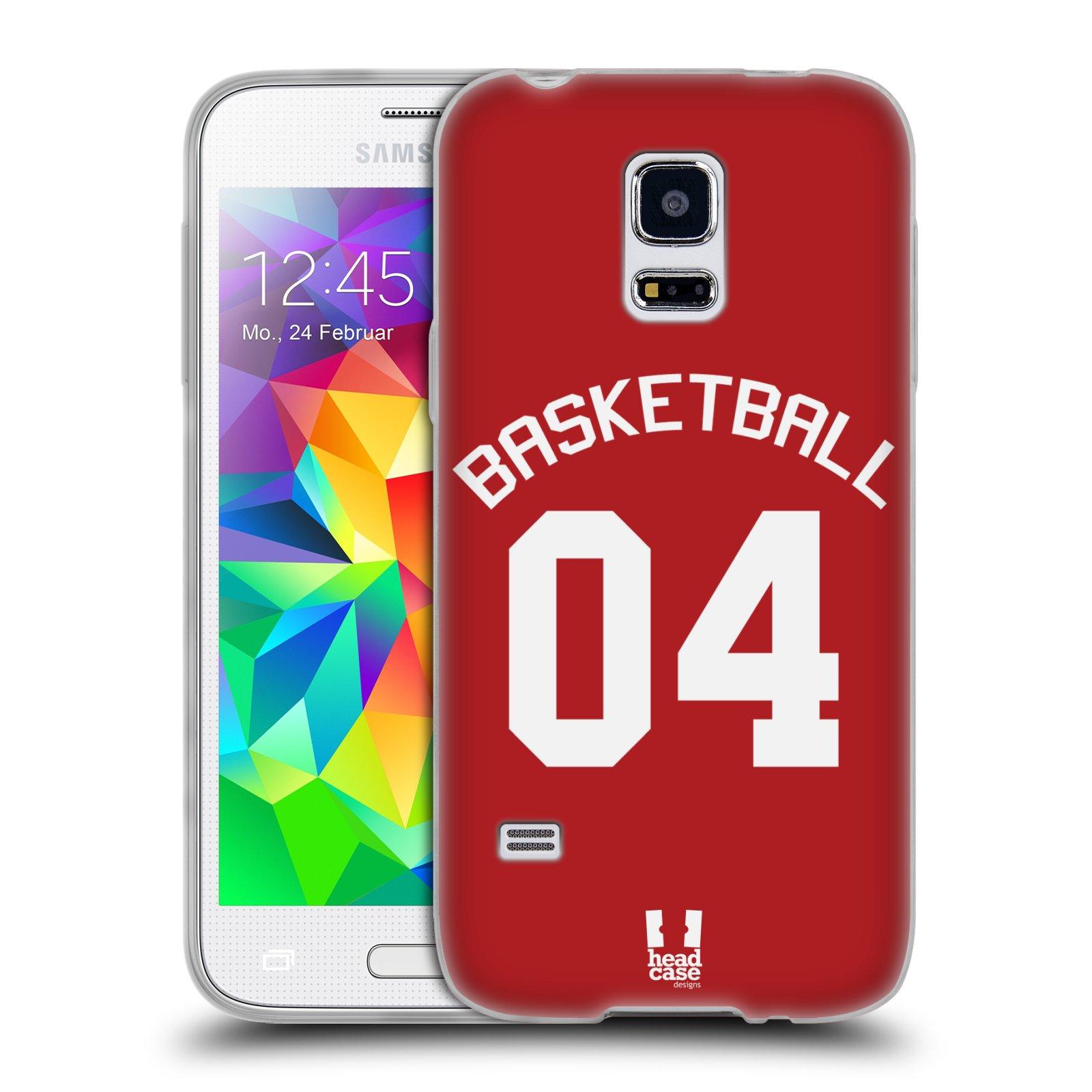 HEAD CASE silikonový obal na mobil Samsung Galaxy S5 MINI Sportovní dres Basketbal červený