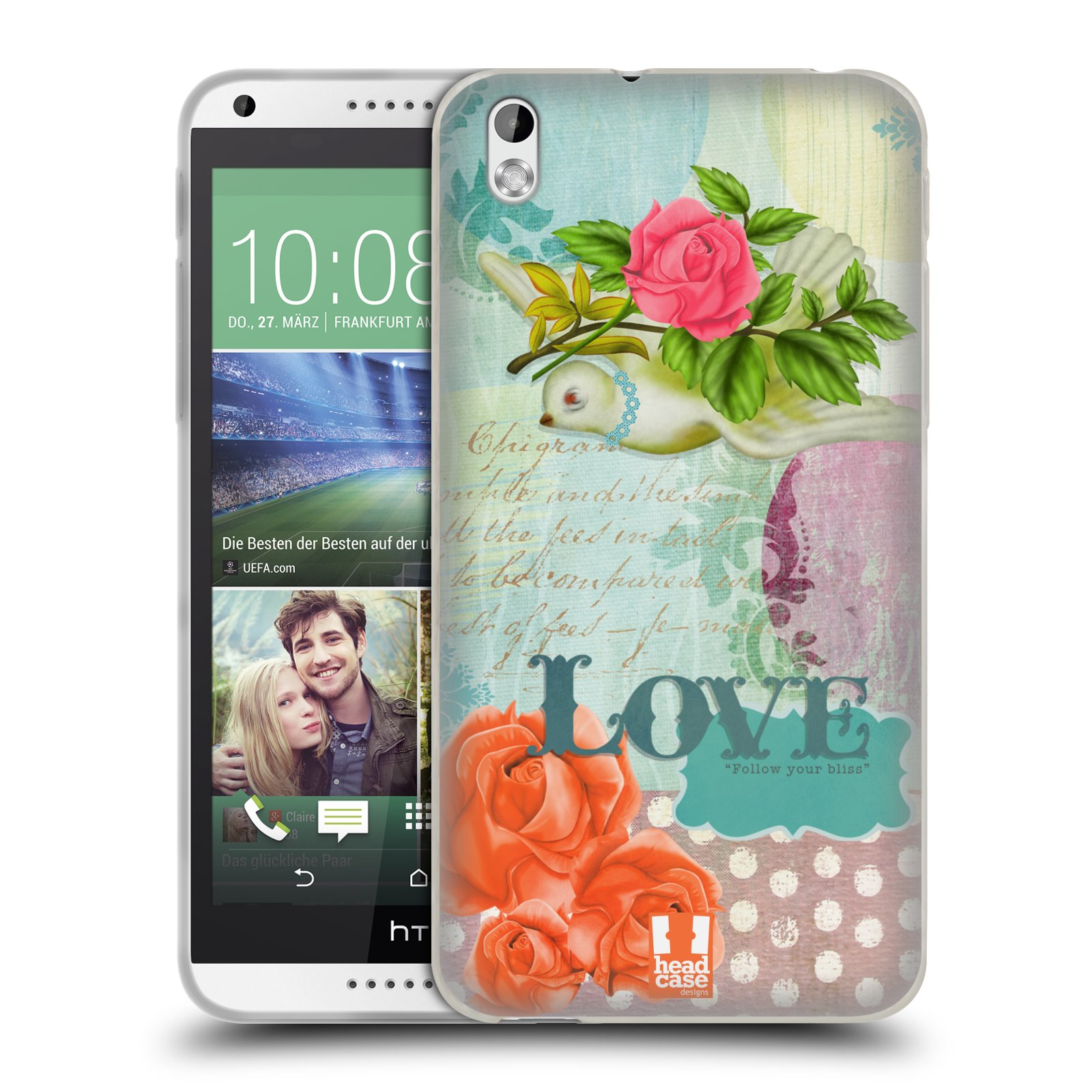 HEAD CASE PICCOLE GIOIE CASE IN GEL PER HTC DESIRE 816