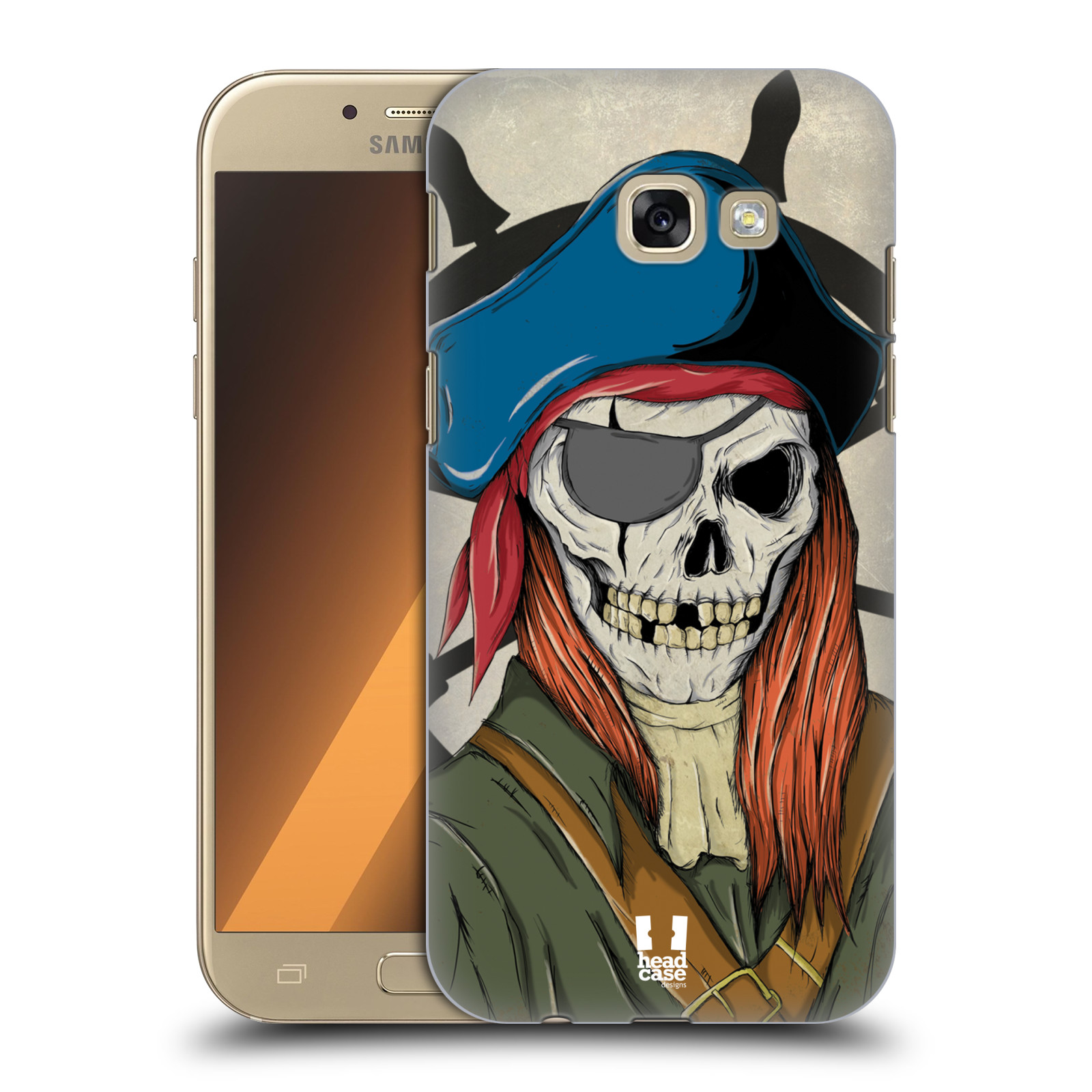HEAD-CASE-DESIGNS-SKULL-PIRATES-HARD-BACK-CASE-FOR-SAMSUNG-GALAXY-A5-2017