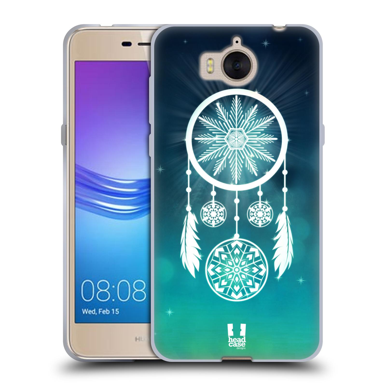 HEAD CASE silikonový obal na mobil Huawei Y6 2017 vzor Sněžné vločky modrá  lapač snů 00268e2b612