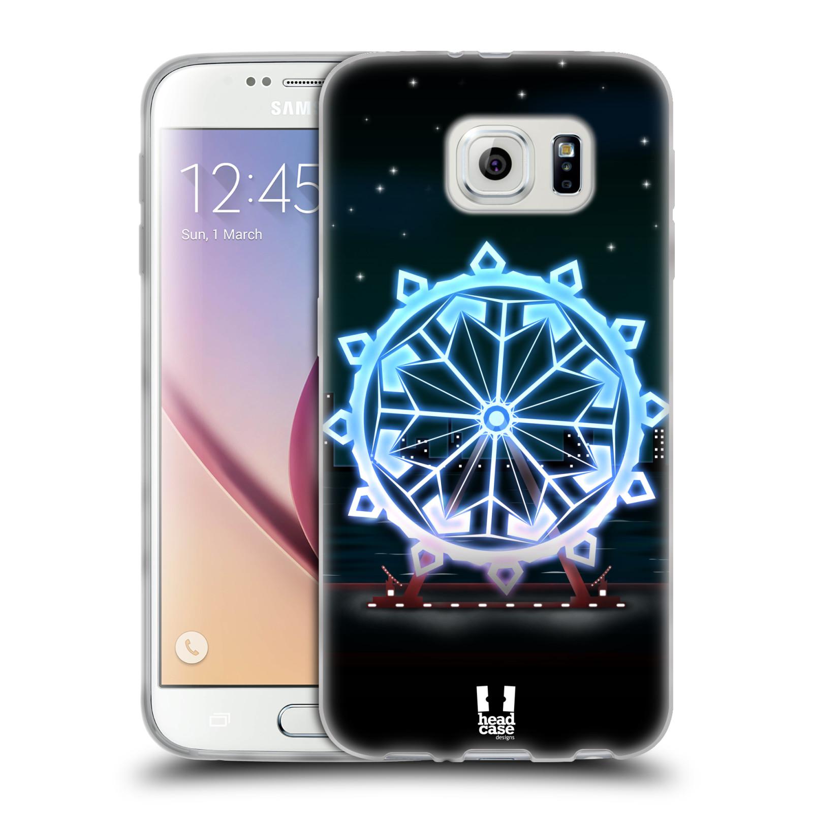 HEAD CASE silikonový obal na mobil Samsung Galaxy S6 vzor Sněžné vločky modrá kolo