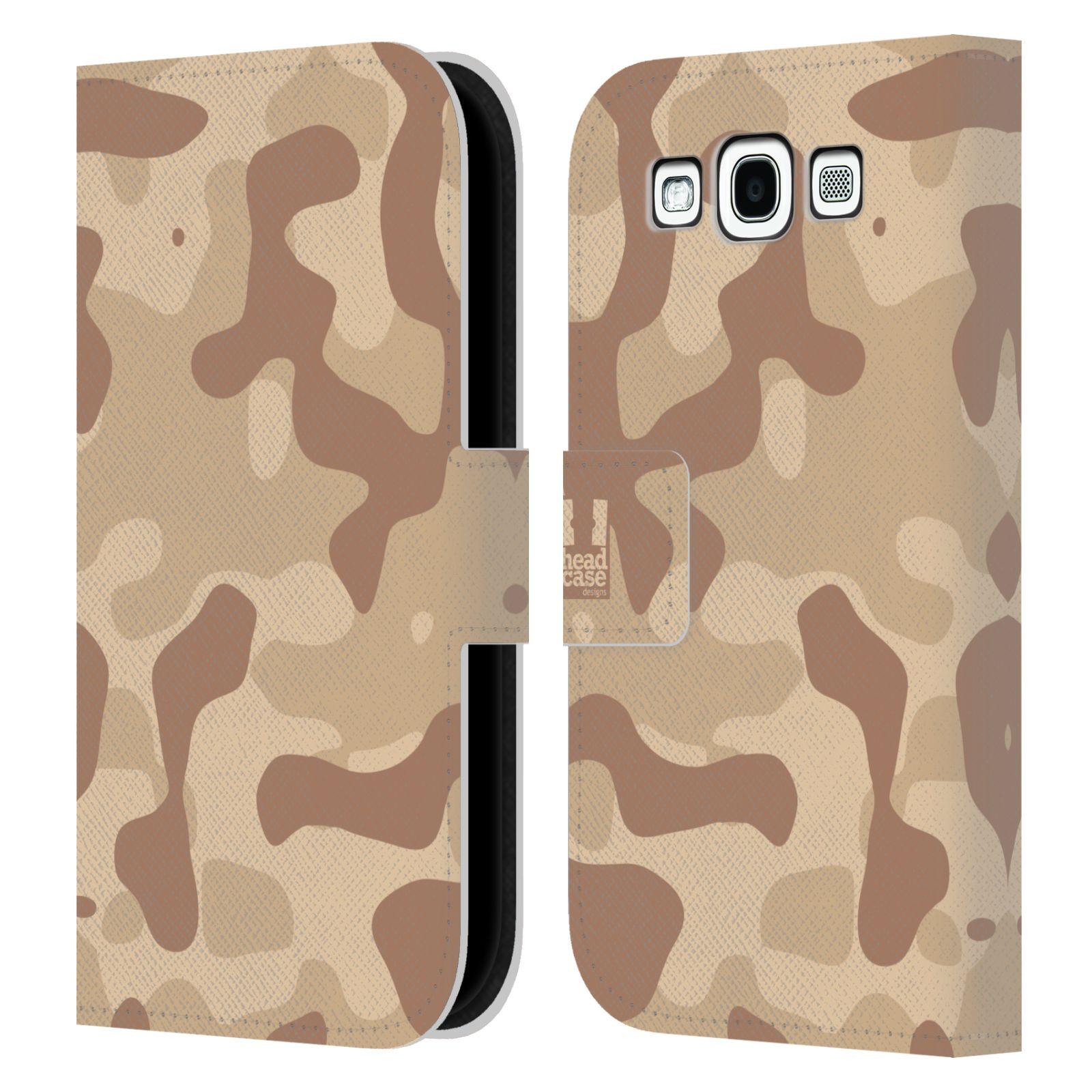 HEAD CASE Flipové pouzdro pro mobil Samsung Galaxy S3 lehká barevná kamufláž poušť