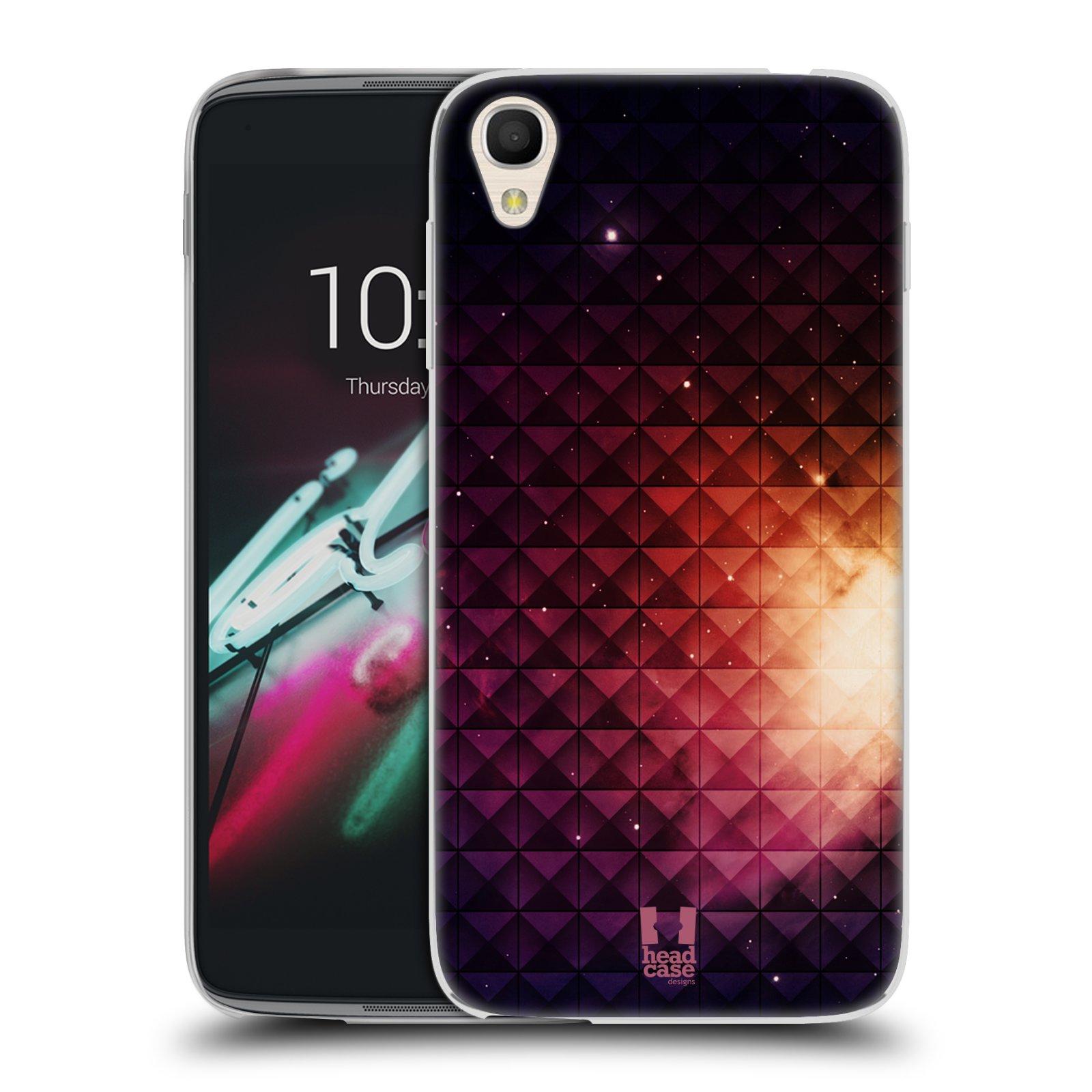 HEAD CASE silikonový obal na mobil Alcatel Idol 3 OT-6039Y (4.7) vzor Hvězdná obloha hvězdy a slunce ŽLUTÁ ZÁŘE