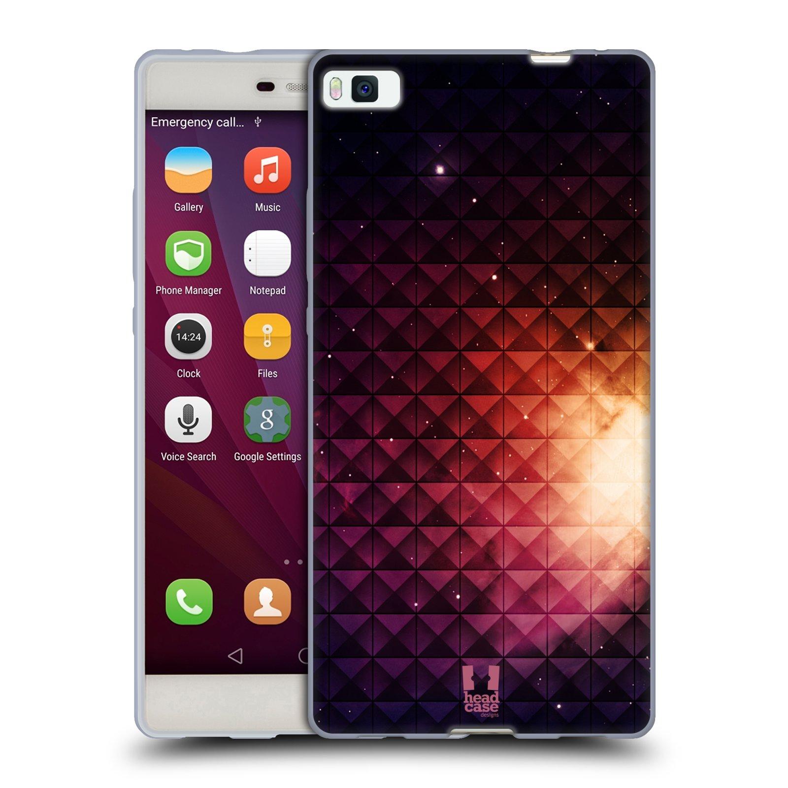 HEAD CASE silikonový obal na mobil HUAWEI P8 vzor Hvězdná obloha hvězdy a slunce ŽLUTÁ ZÁŘE