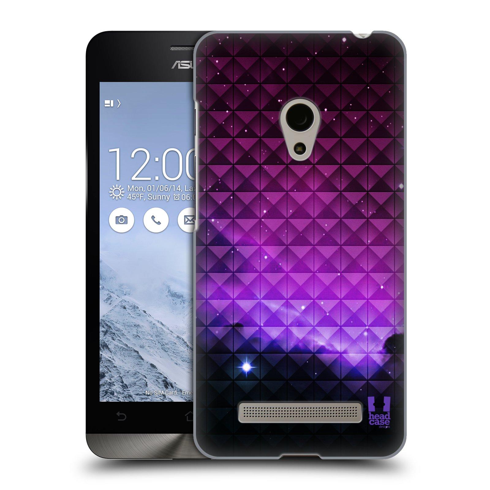 HEAD CASE plastový obal na mobil Asus Zenfone 5 vzor Hvězdná obloha hvězdy a slunce FIALOVÁ
