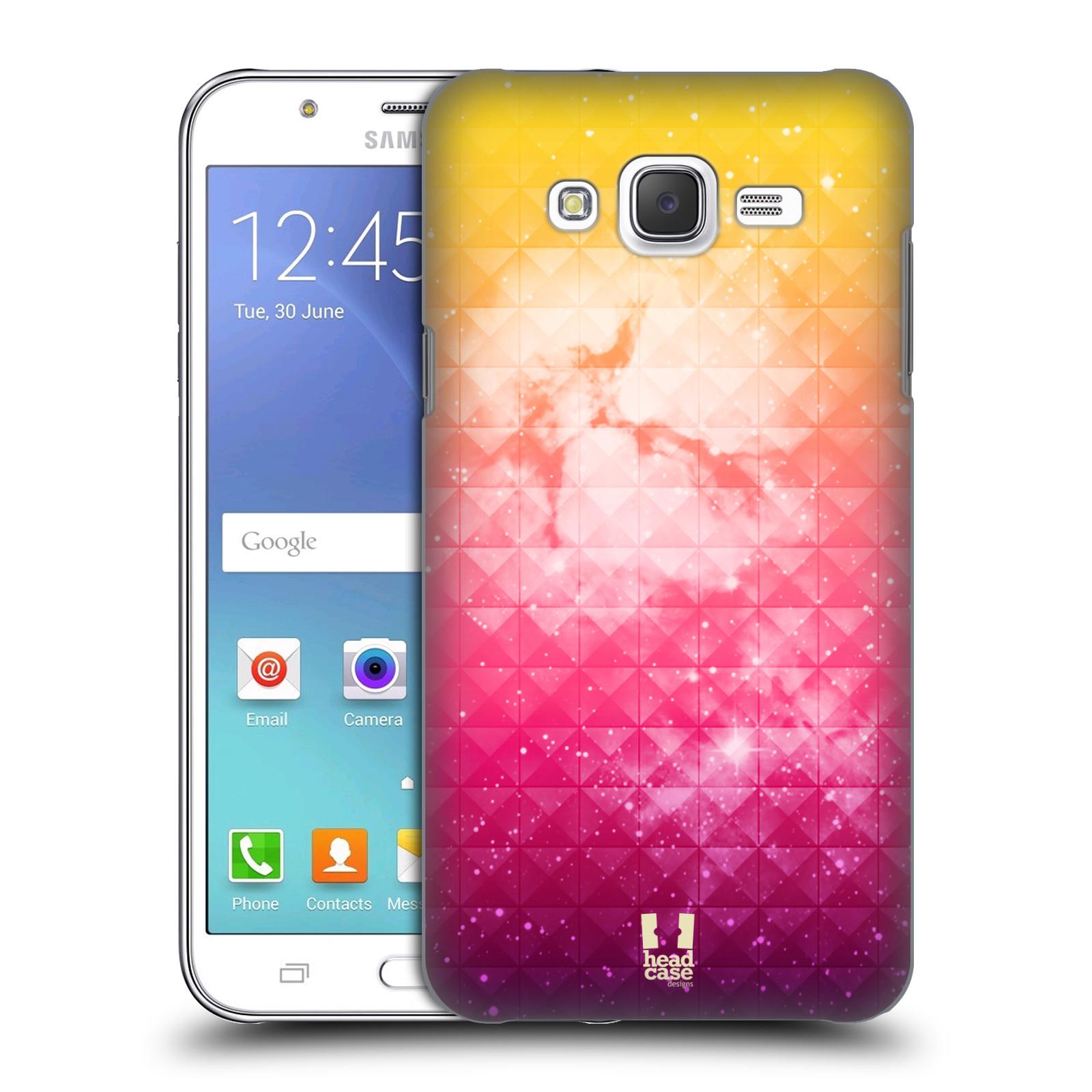 HEAD CASE plastový obal na mobil SAMSUNG Galaxy J5, J500 vzor Hvězdná obloha hvězdy a slunce ŽLUTÁ A RŮŽOVÁ