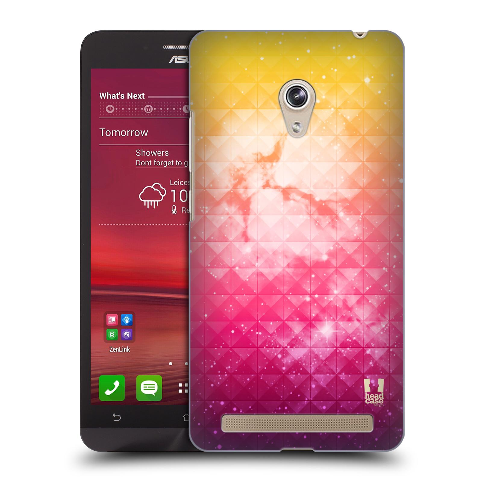 HEAD CASE plastový obal na mobil Asus Zenfone 6 vzor Hvězdná obloha hvězdy a slunce ŽLUTÁ A RŮŽOVÁ