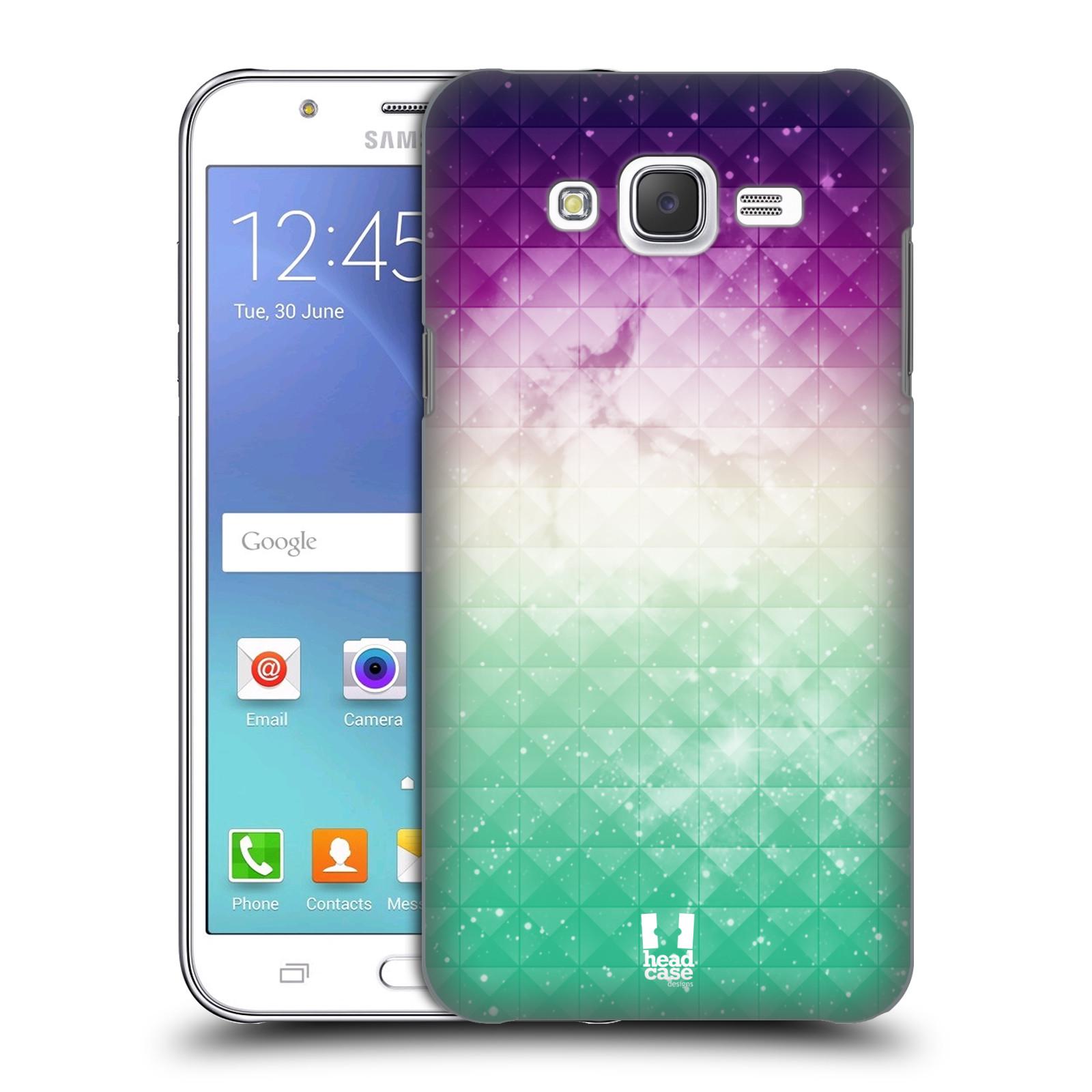 HEAD CASE plastový obal na mobil SAMSUNG Galaxy J5, J500 vzor Hvězdná obloha hvězdy a slunce FIALOVÁ A ZELENÁ