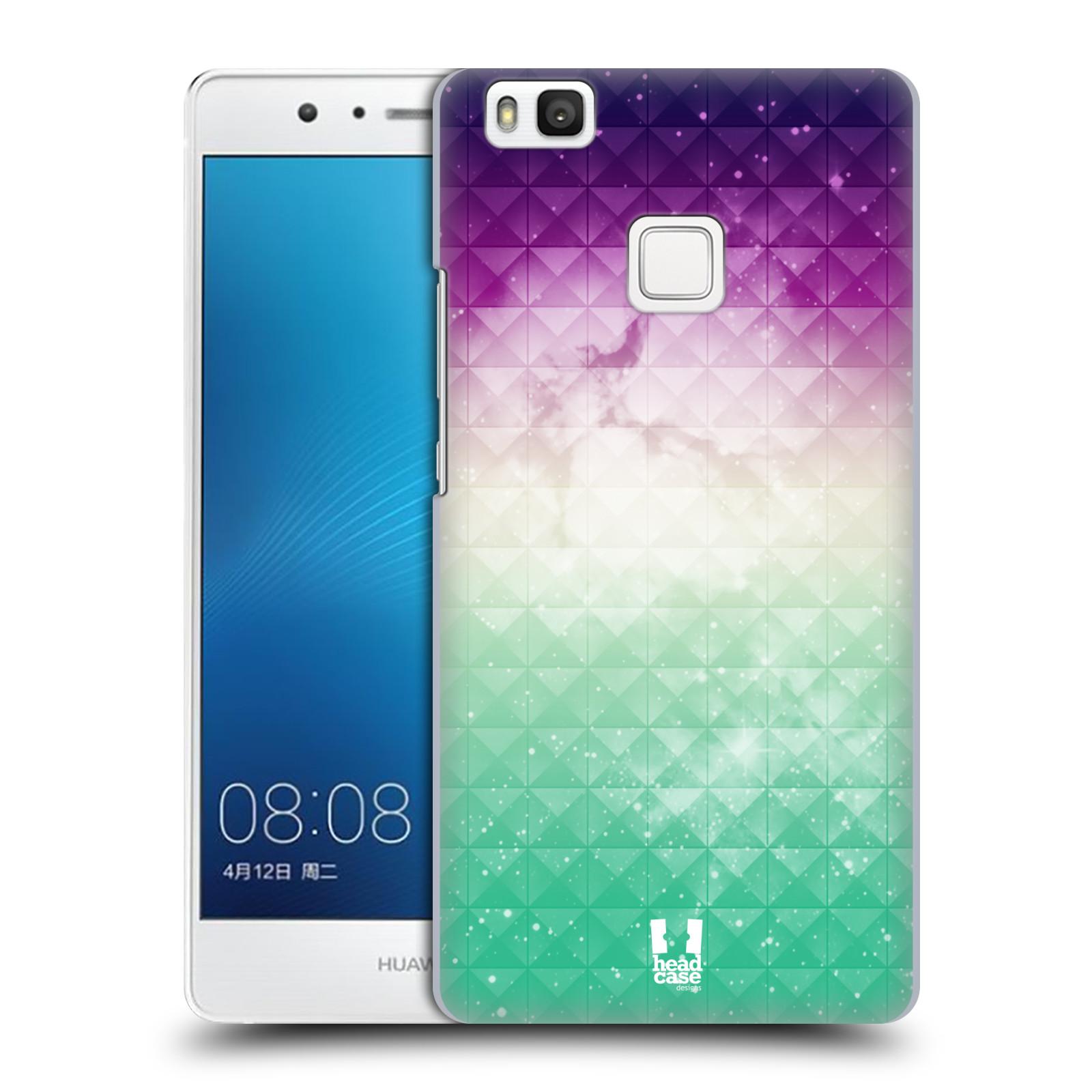 HEAD CASE plastový obal na mobil Huawei P9 LITE / P9 LITE DUAL SIM vzor Hvězdná obloha hvězdy a slunce FIALOVÁ A ZELENÁ