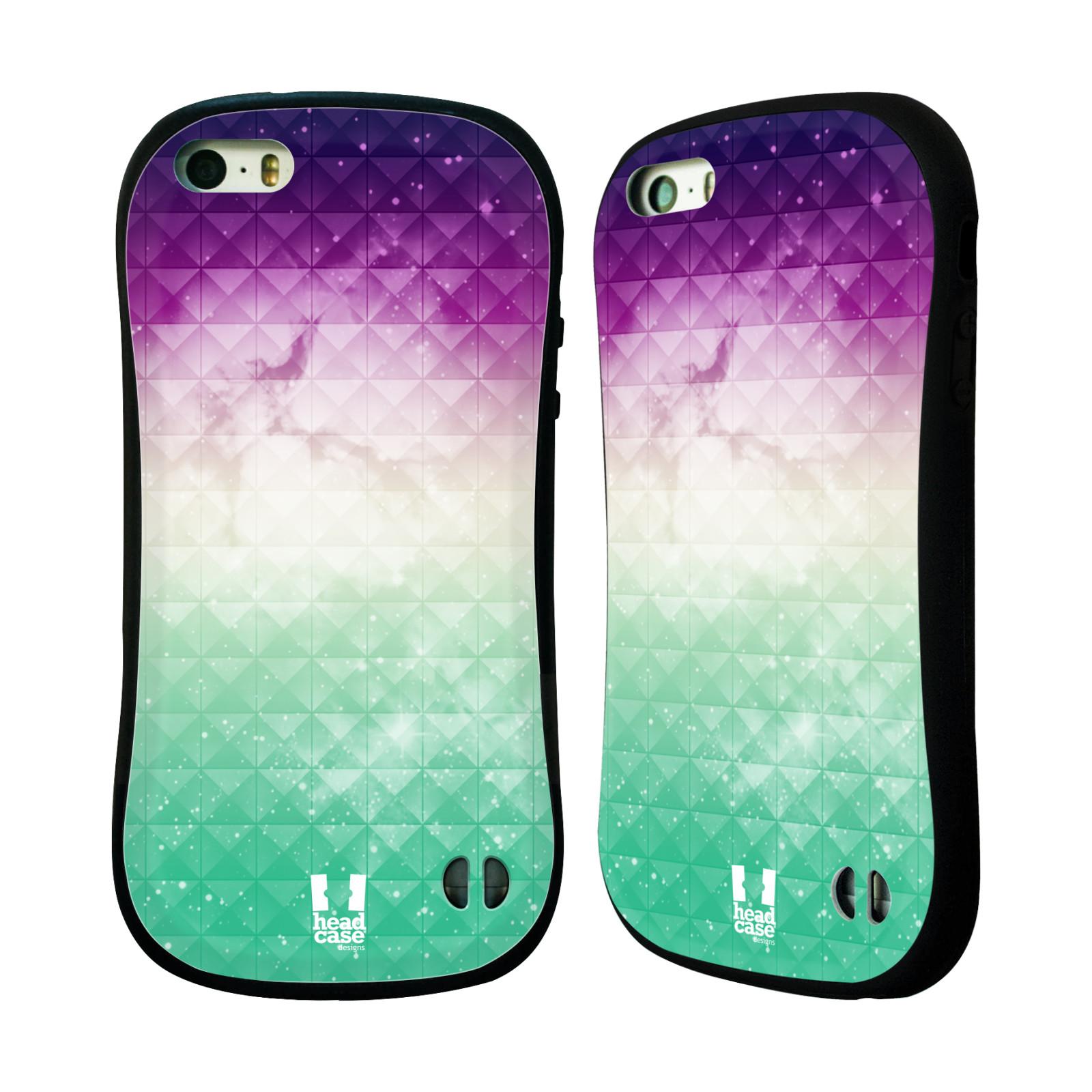 HEAD CASE silikon plast odolný obal na mobil Apple Iphone 5 5S vzor Hvězdná  obloha hvězdy a slunce FIALOVÁ A ZELENÁ 6fc9e68a840