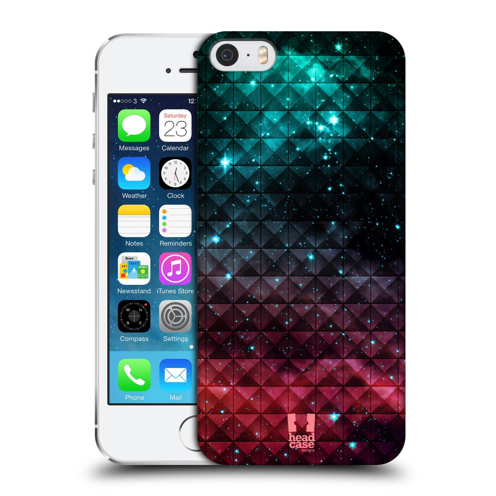 Plastové pouzdro pro mobil Apple Iphone 5 / 5S / SE vzor Hvězdná obloha hvězdy a slunce RUDÁ A MODRÁ