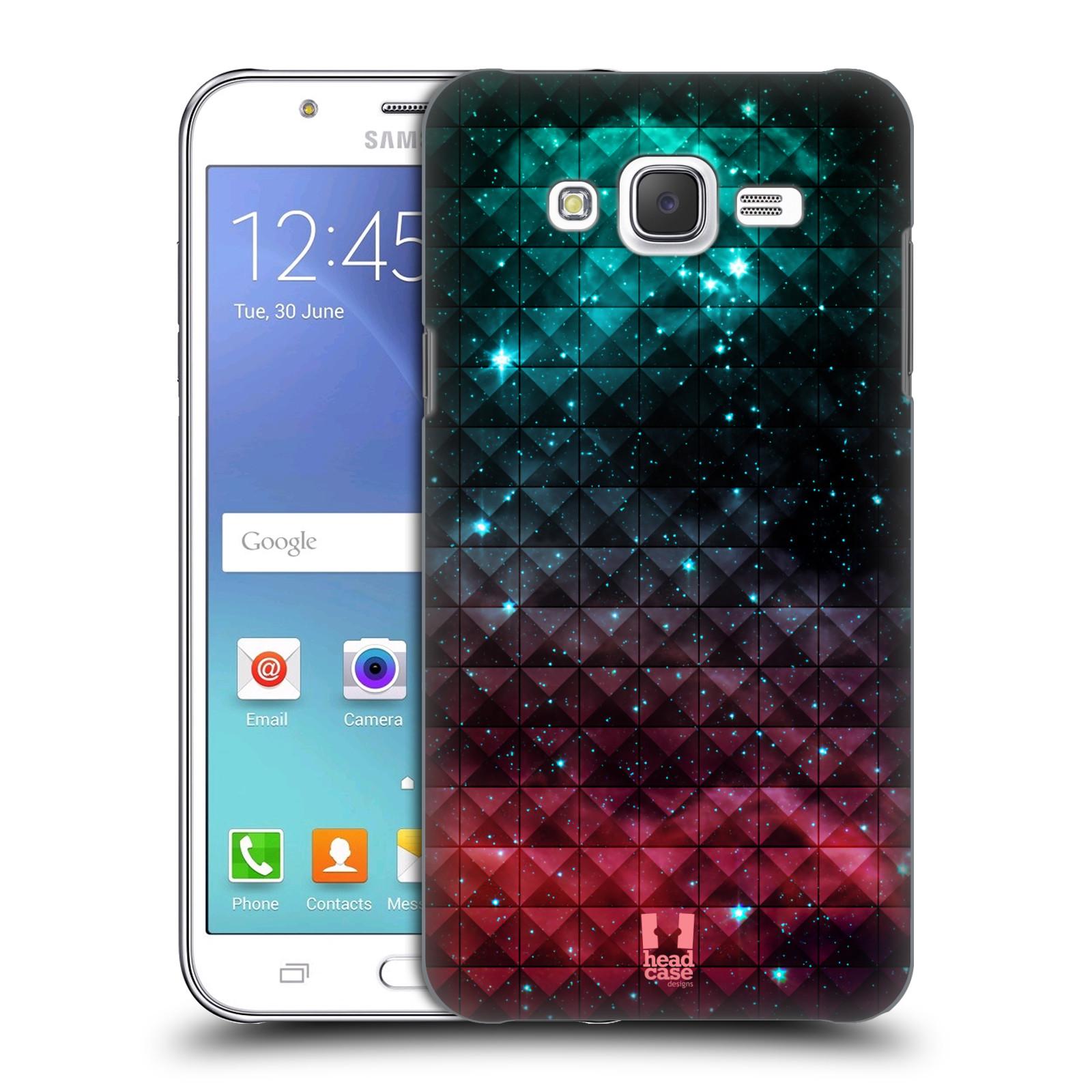 HEAD CASE plastový obal na mobil SAMSUNG Galaxy J5, J500 vzor Hvězdná obloha hvězdy a slunce RUDÁ A MODRÁ