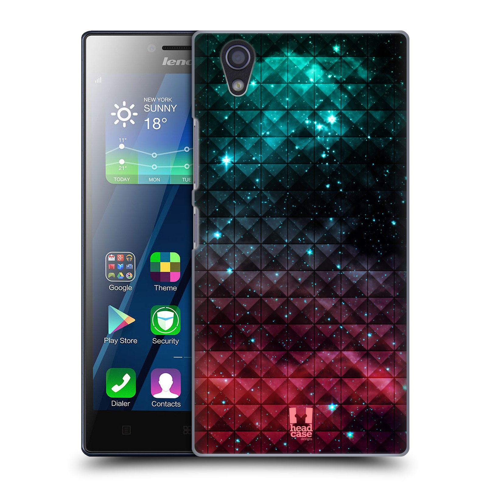 HEAD CASE DESIGNS PRINTED STUDDED OMBRE HARD BACK CASE FOR LENOVO P70