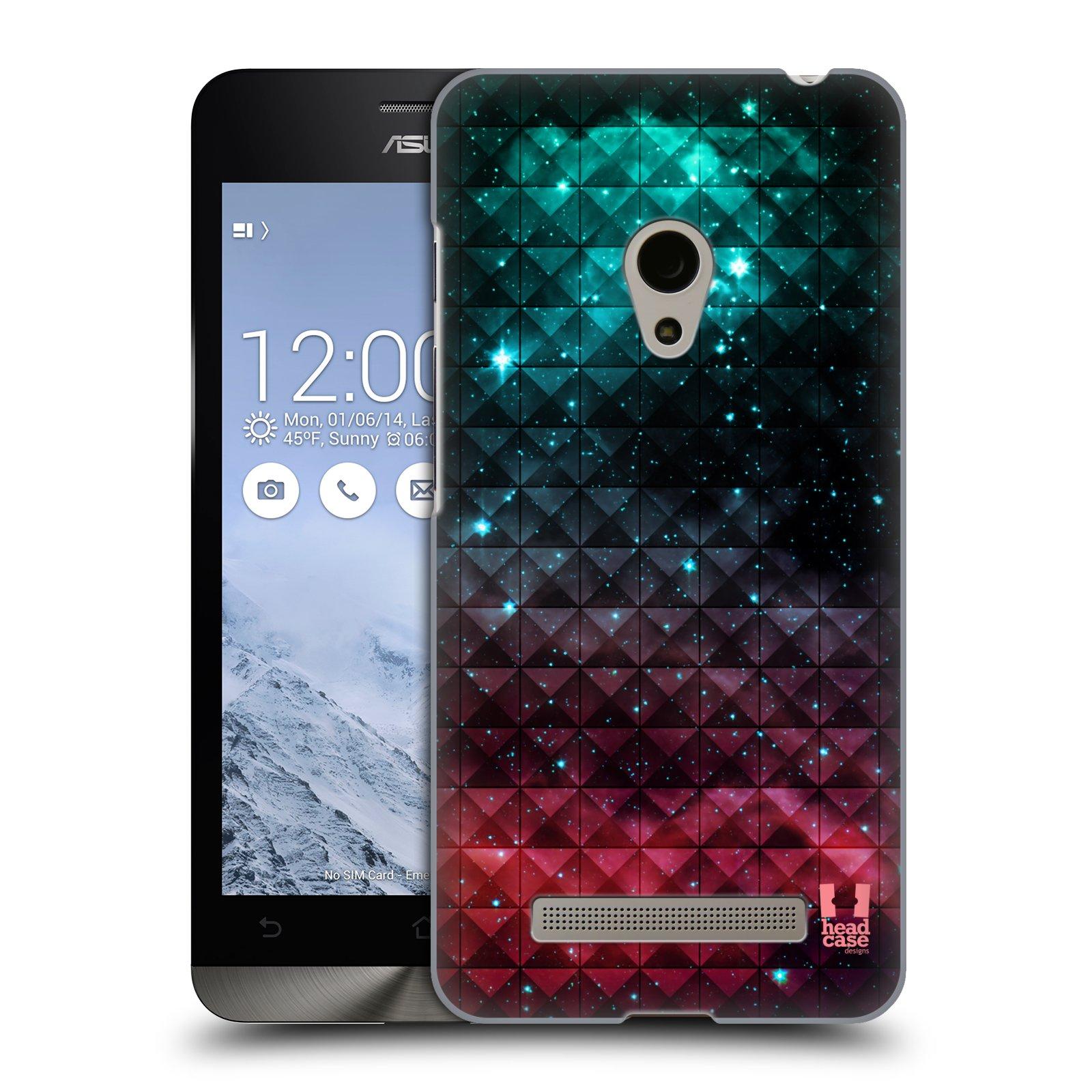 HEAD CASE plastový obal na mobil Asus Zenfone 5 vzor Hvězdná obloha hvězdy a slunce RUDÁ A MODRÁ