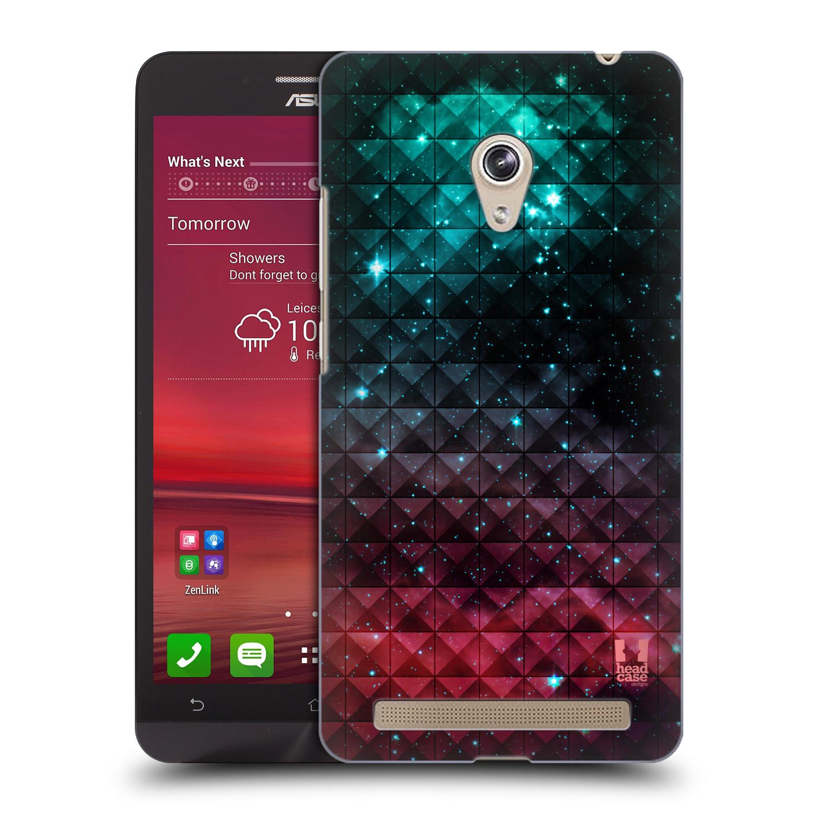 HEAD CASE plastový obal na mobil Asus Zenfone 6 vzor Hvězdná obloha hvězdy a slunce RUDÁ A MODRÁ