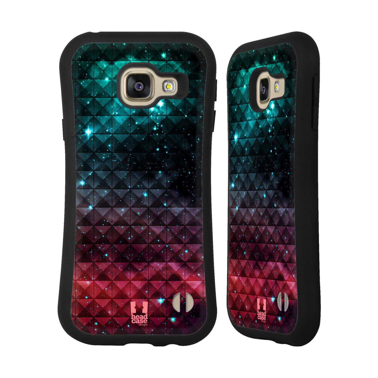 HEAD CASE silikon/plast odolný obal na mobil Samsung Galaxy A3 2016 vzor Hvězdná obloha hvězdy a slunce RUDÁ A MODRÁ
