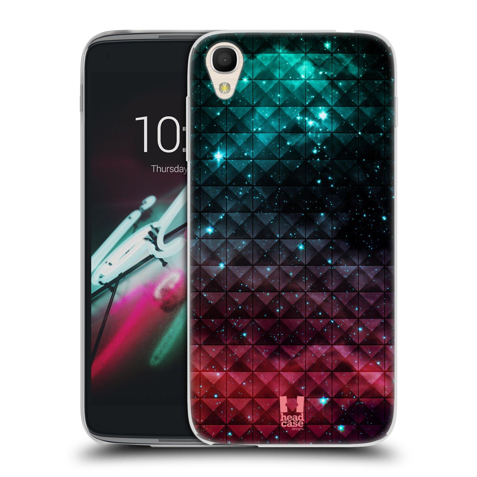 HEAD CASE silikonový obal na mobil Alcatel Idol 3 OT-6039Y (4.7) vzor Hvězdná obloha hvězdy a slunce RUDÁ A MODRÁ