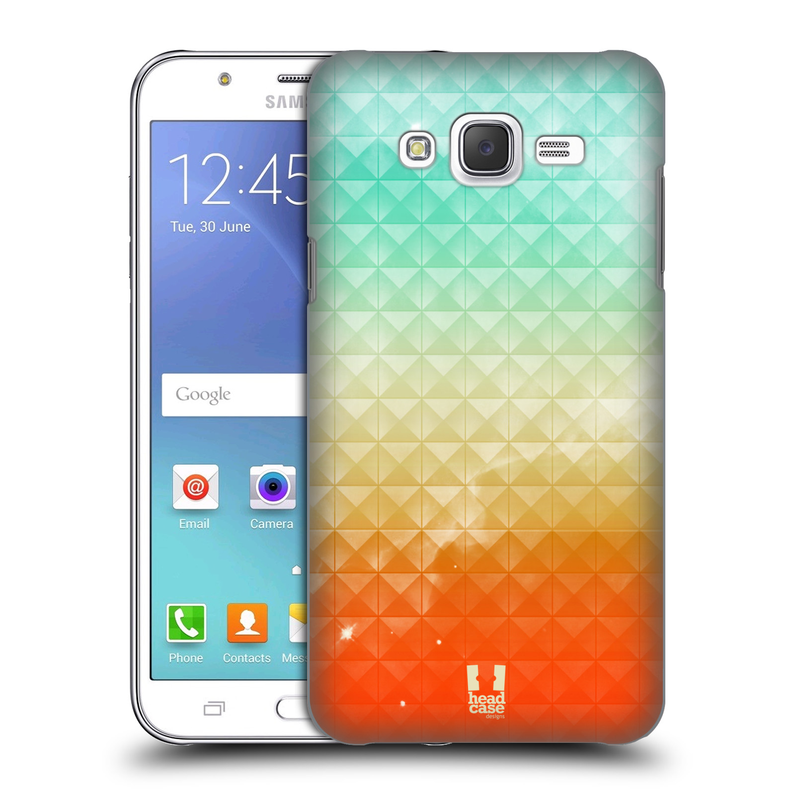 HEAD CASE plastový obal na mobil SAMSUNG Galaxy J5, J500 vzor Hvězdná obloha hvězdy a slunce ORANŽOVA A MODRÁ