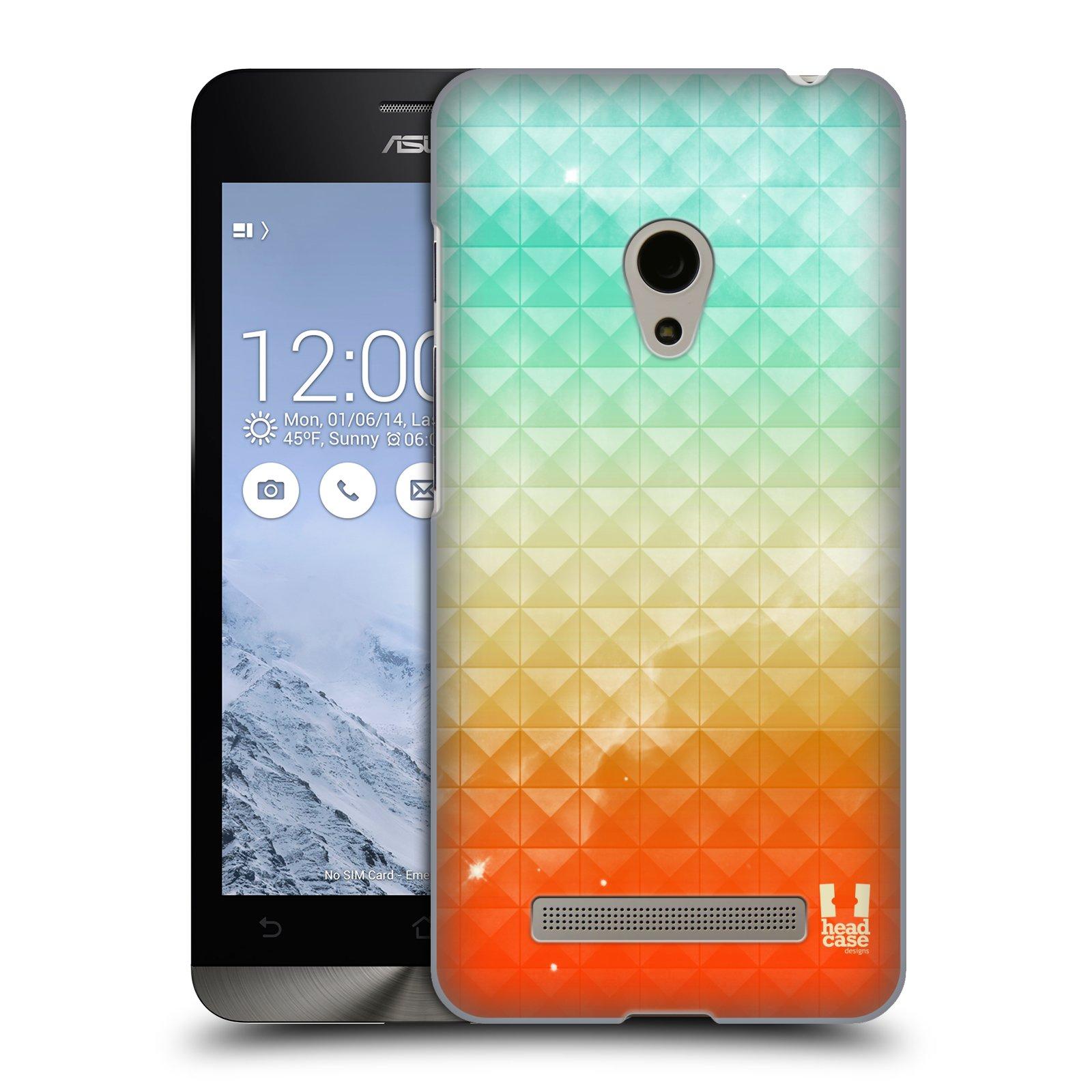 HEAD CASE plastový obal na mobil Asus Zenfone 5 vzor Hvězdná obloha hvězdy a slunce ORANŽOVA A MODRÁ