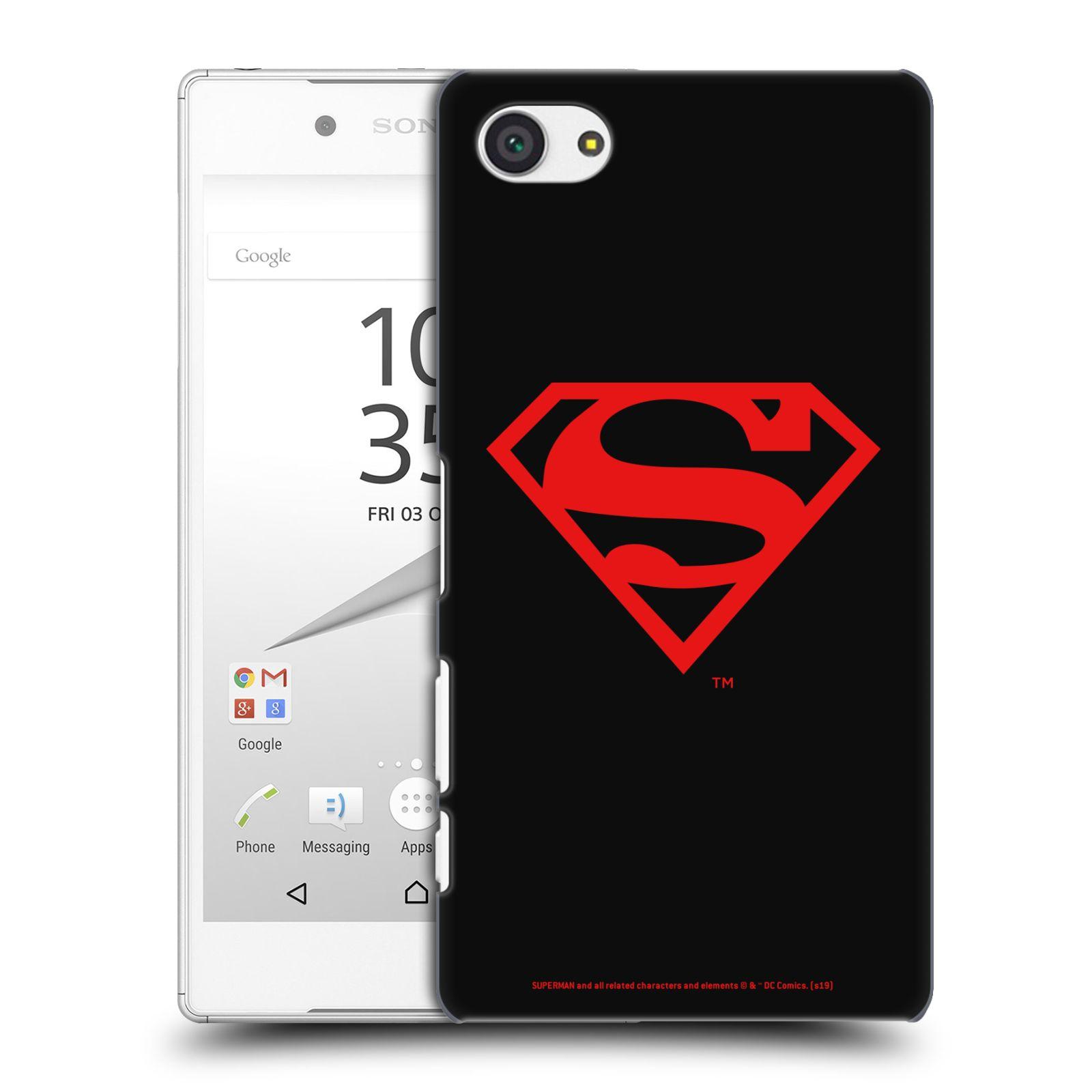 Pouzdro na mobil Sony Xperia Z5 COMPACT - HEAD CASE - DC komix Superman červený znak černé pozadí