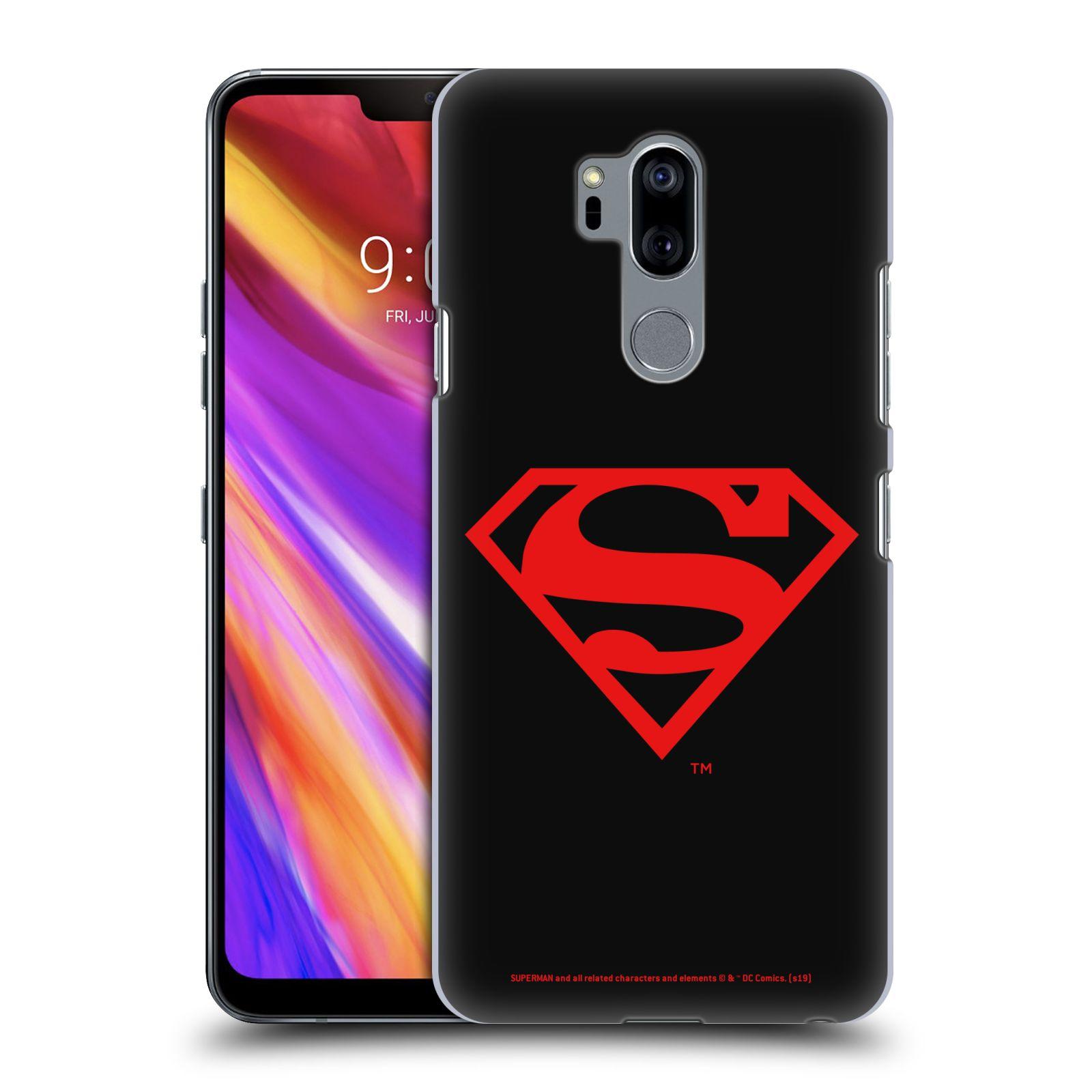 Pouzdro na mobil LG G7  ThinQ - HEAD CASE - DC komix Superman červený znak černé pozadí