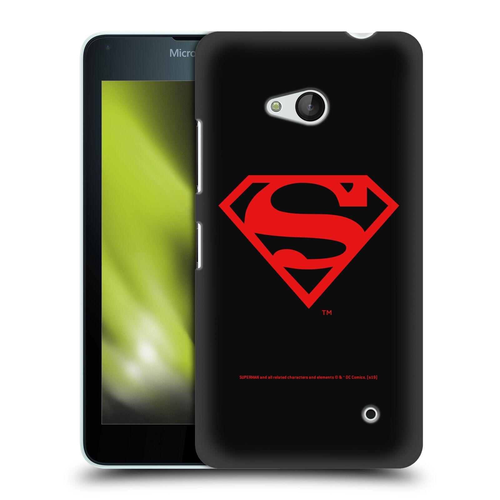 Pouzdro na mobil Microsoft Lumia 640 / 640 DUAL SIM - HEAD CASE - DC komix Superman červený znak černé pozadí