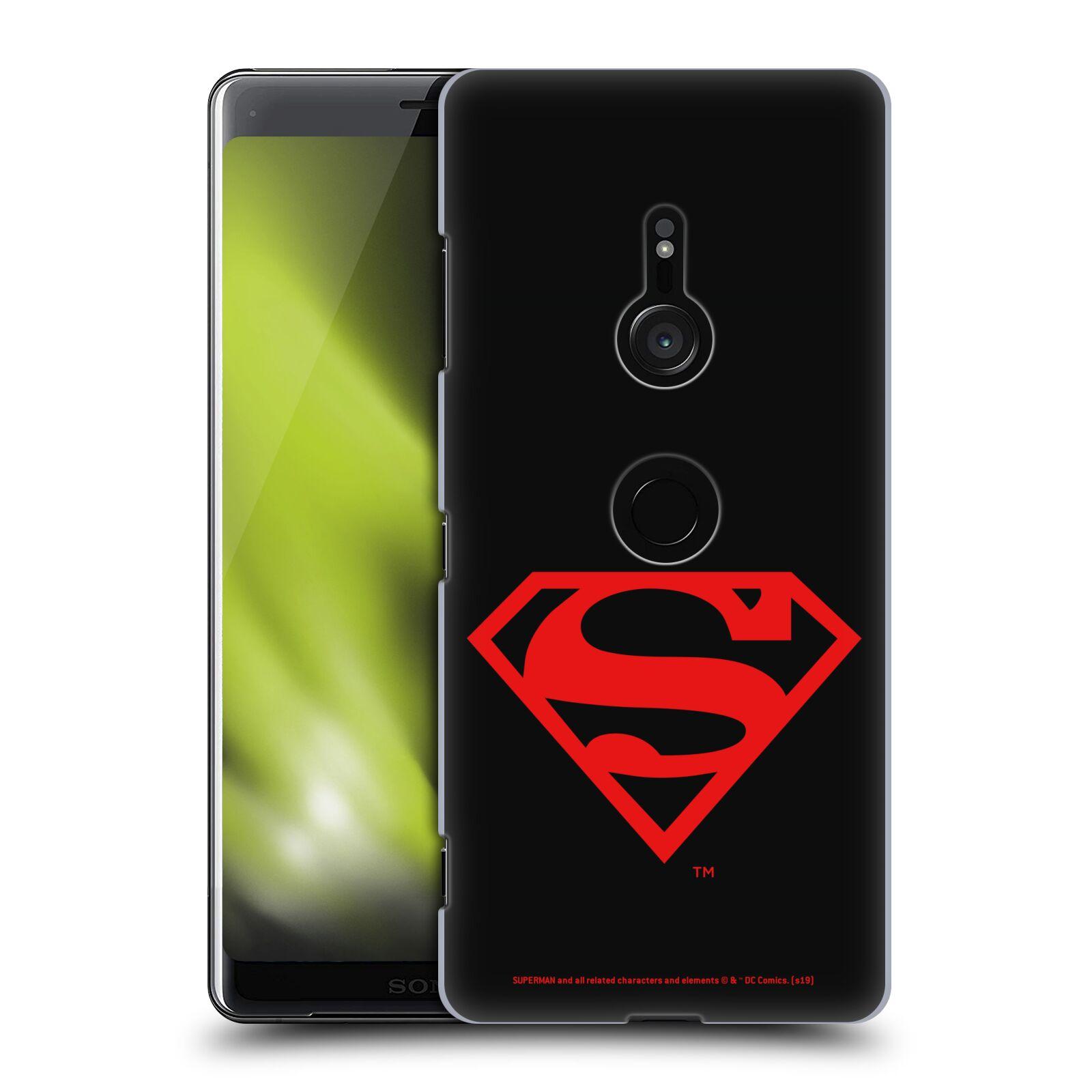 Pouzdro na mobil Sony Xperia XZ3 - HEAD CASE - DC komix Superman červený znak černé pozadí