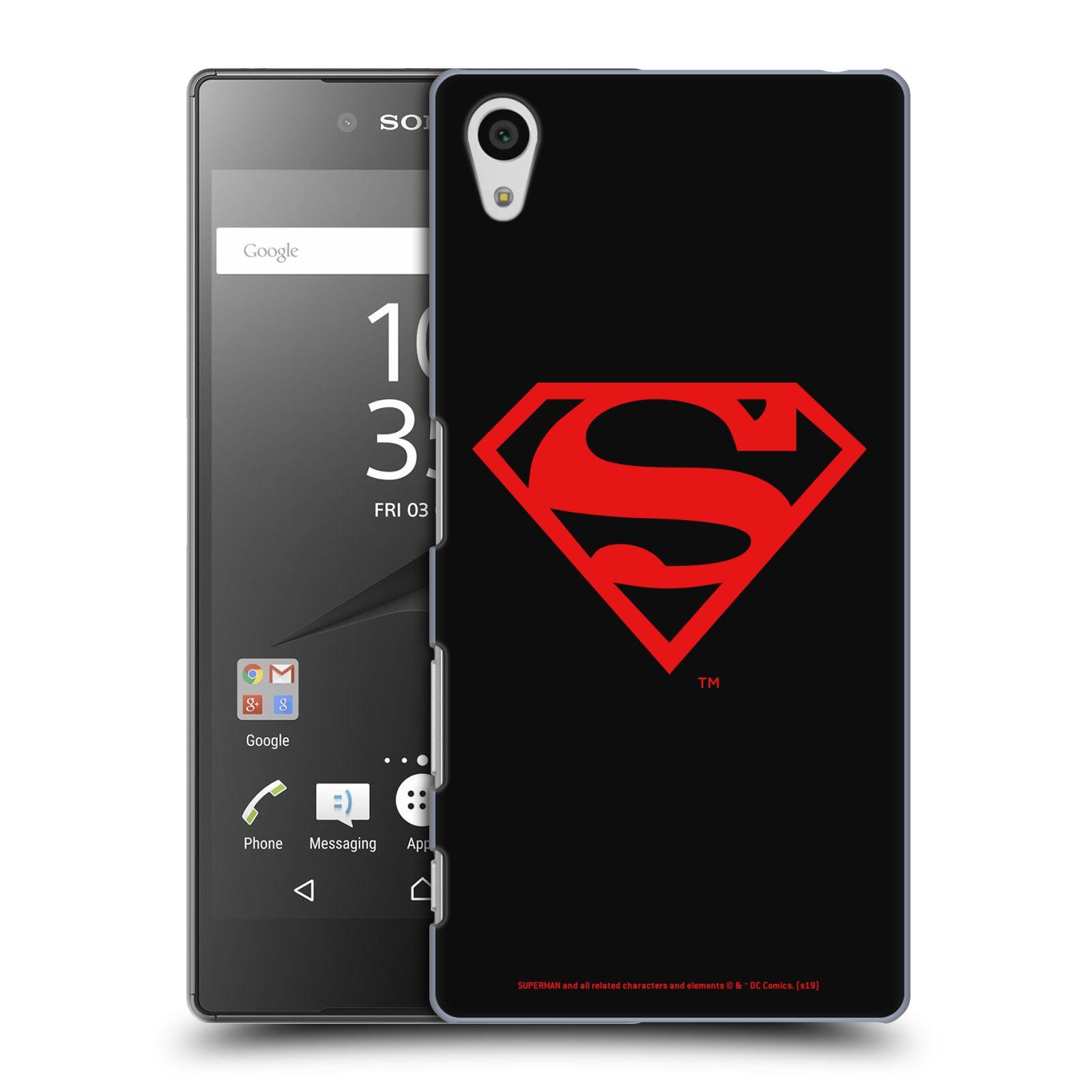 Pouzdro na mobil Sony Xperia Z5 - HEAD CASE - DC komix Superman červený znak černé pozadí