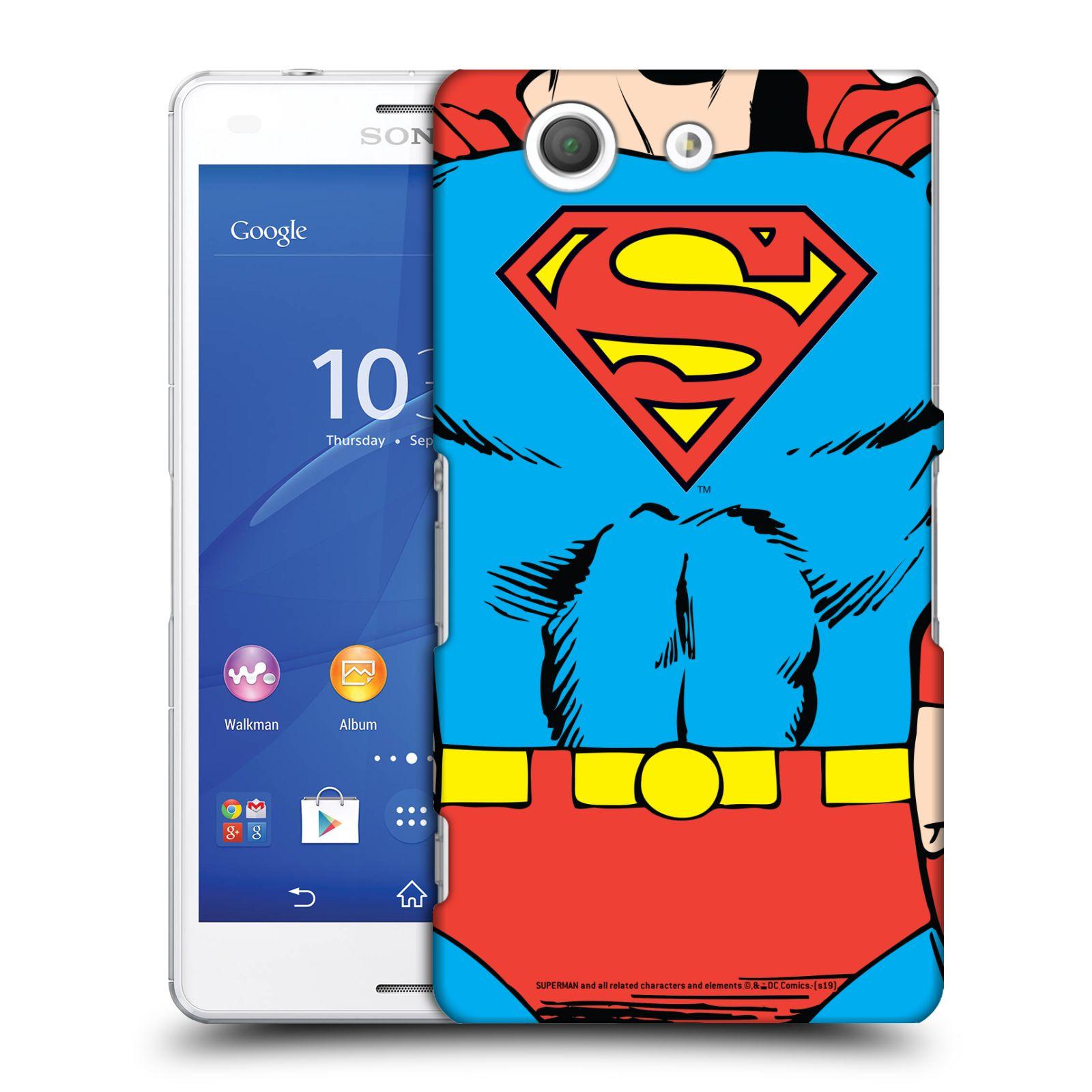 Pouzdro na mobil Sony Xperia Z3 COMPACT - HEAD CASE - DC komix Superman v obleku