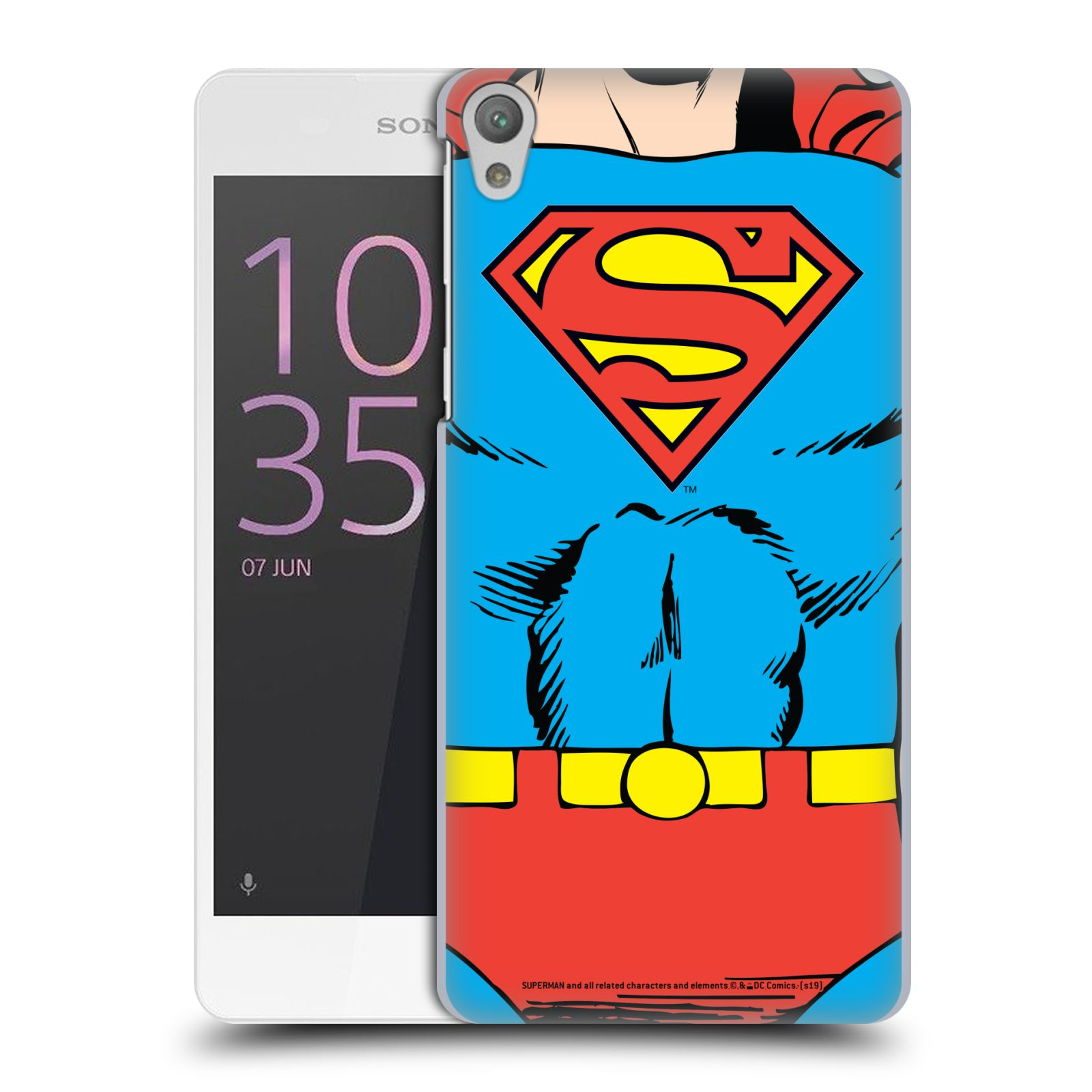 Pouzdro na mobil Sony Xperia E5 - HEAD CASE - DC komix Superman v obleku