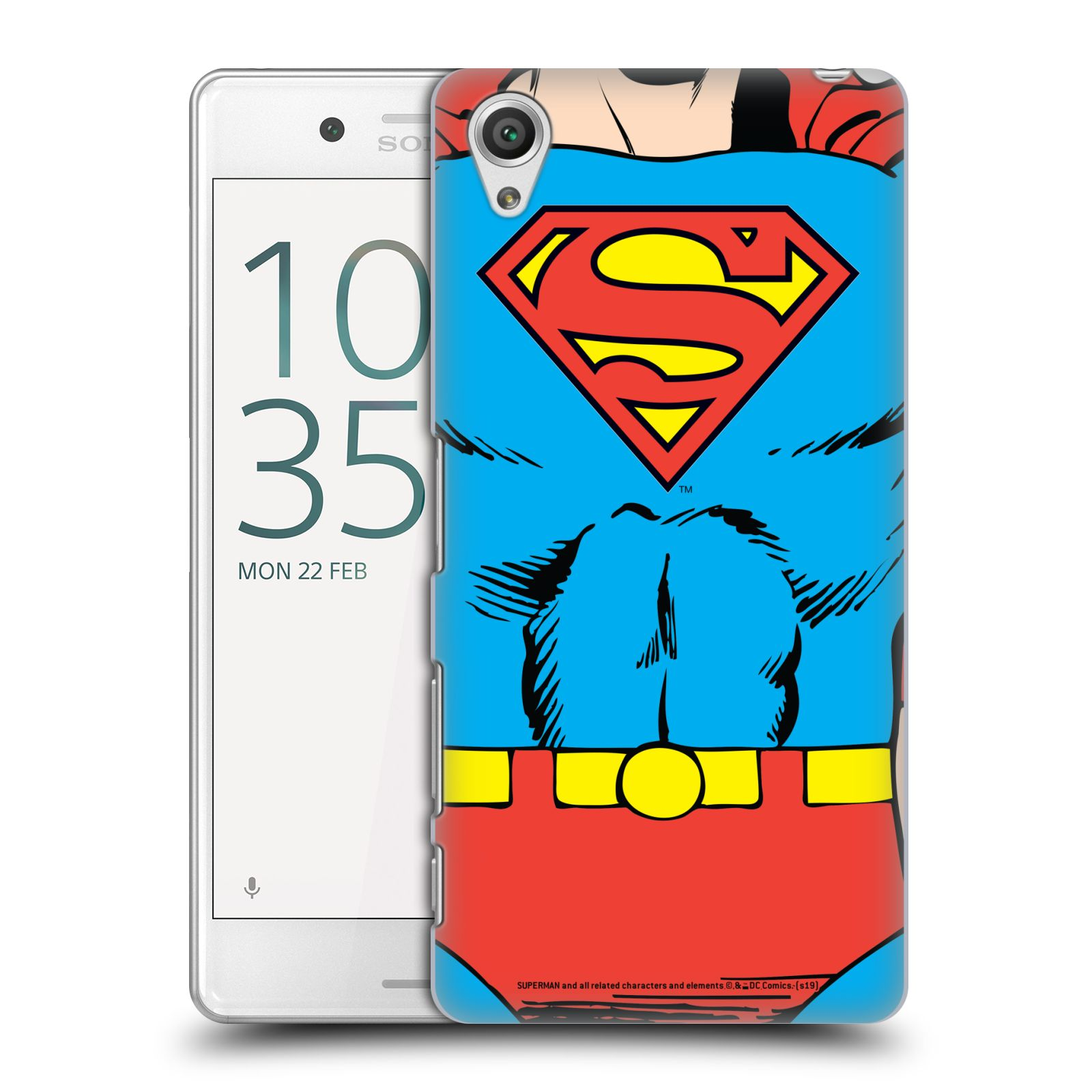 Pouzdro na mobil Sony Xperia X PERFORMANCE - HEAD CASE - DC komix Superman v obleku