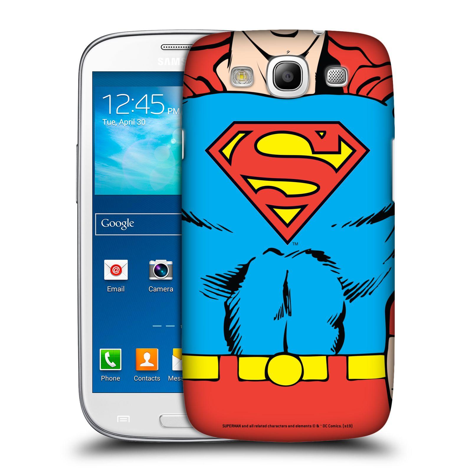 Pouzdro na mobil Samsung Galaxy S3 - HEAD CASE - DC komix Superman v obleku