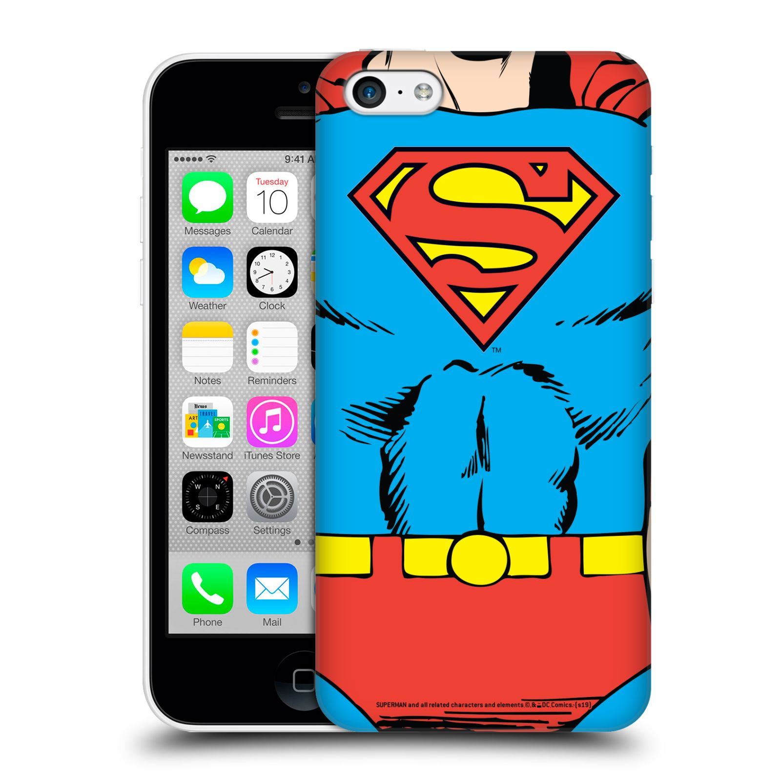 Pouzdro na mobil Apple Iphone 5C - HEAD CASE - DC komix Superman v obleku