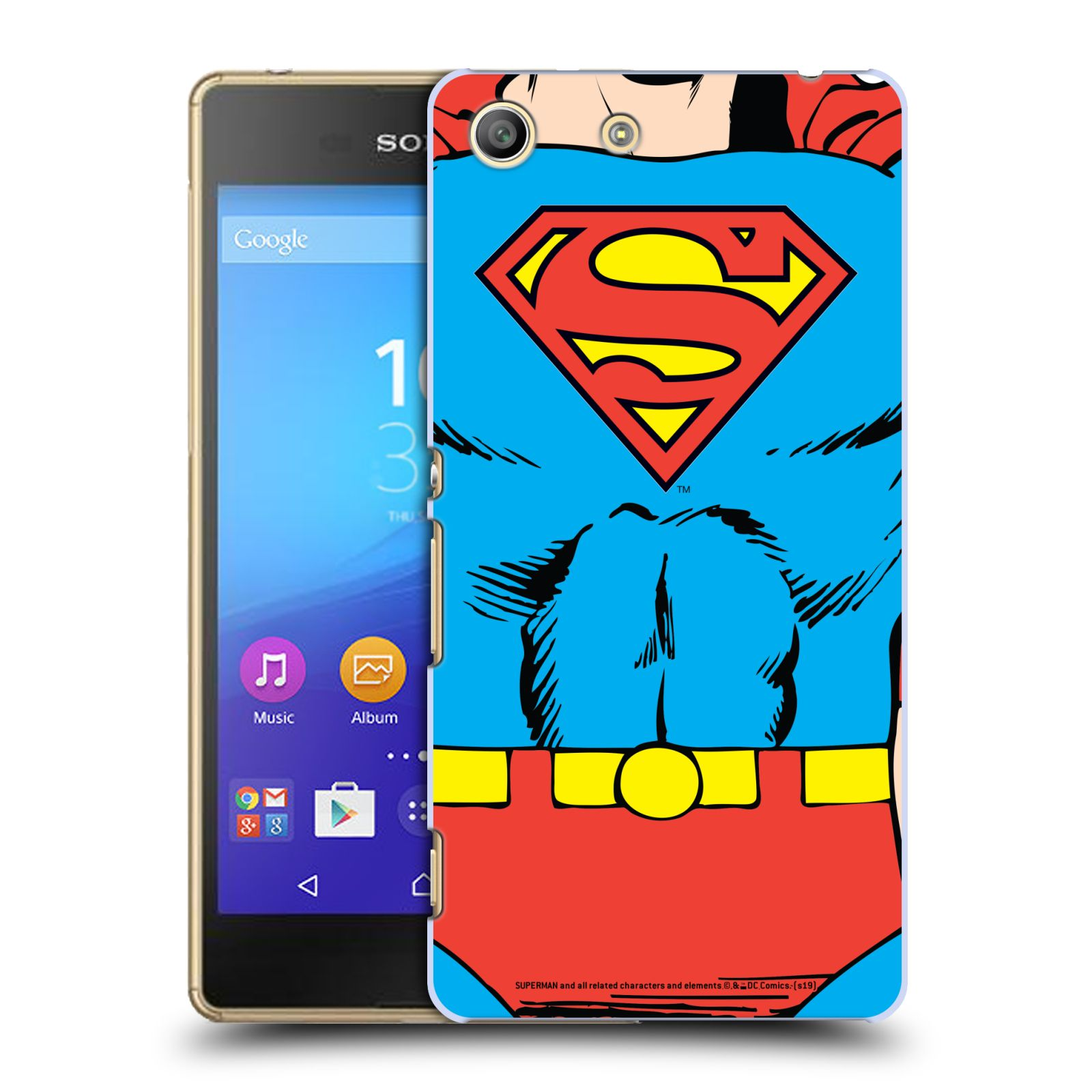 Pouzdro na mobil Sony Xperia M5 - HEAD CASE - DC komix Superman v obleku